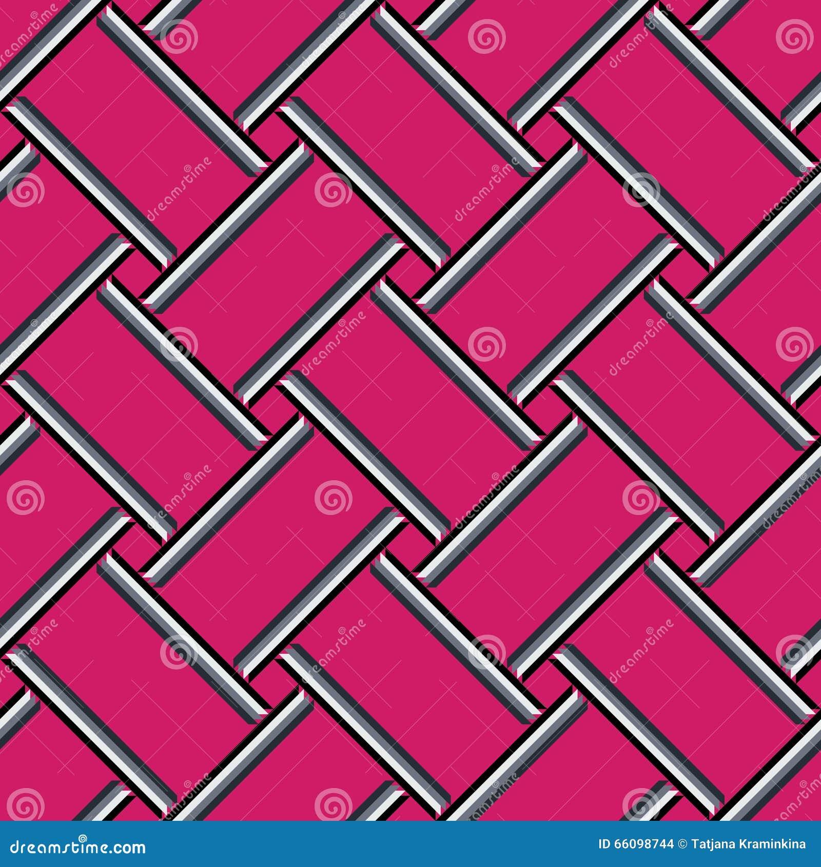 Modèle géométrique abstrait, fond sans couture rose coloré