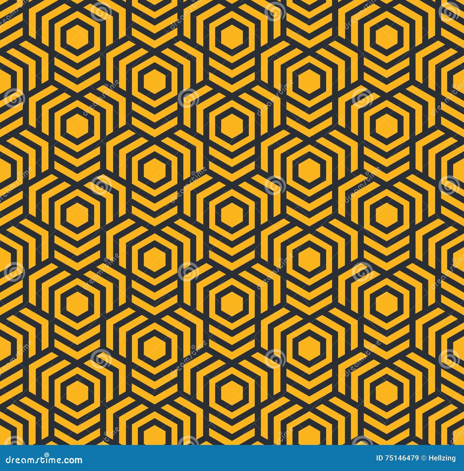Modèle géométrique abstrait sans couture avec les hexagones - eps8