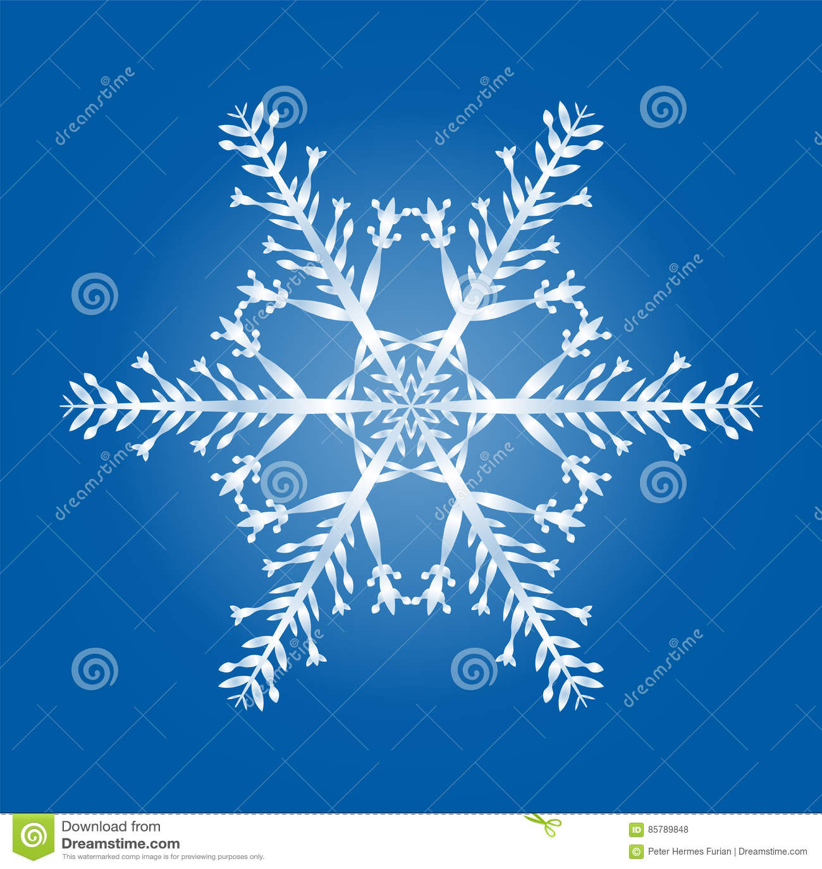 Modèle géométrique de flocon de neige simple