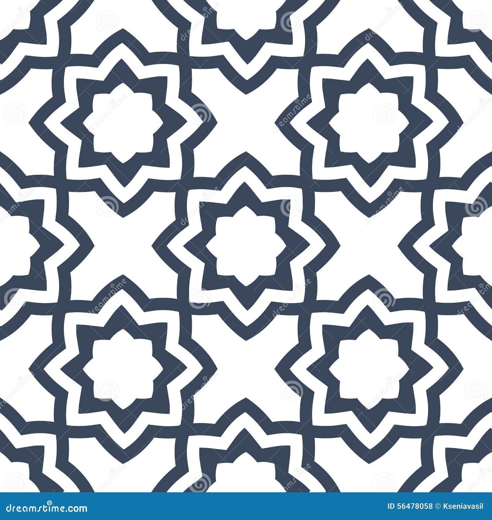 Modèle géométrique floral sans couture