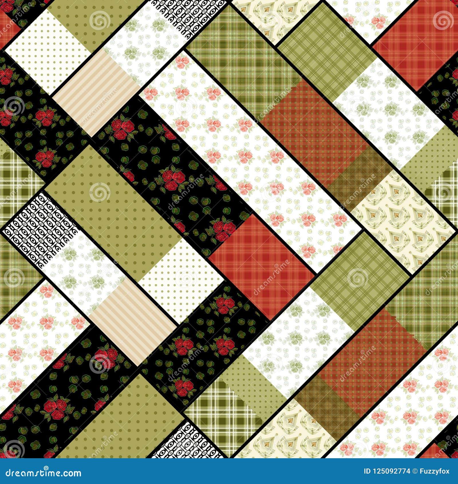 mod le g om trique moderne abstrait sans couture de patchwork illustration stock illustration. Black Bedroom Furniture Sets. Home Design Ideas
