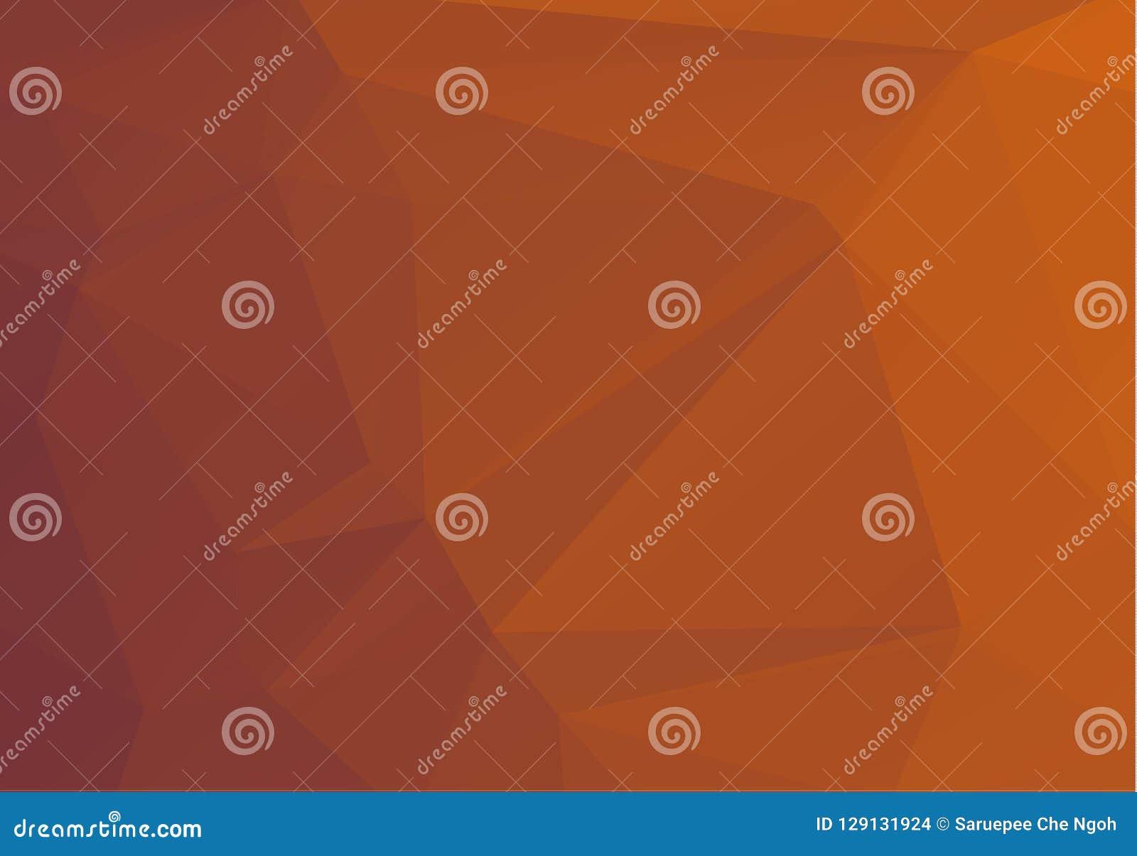 Modèle géométrique multicolore abstrait de gradient orange et brun Fond de triangles Abrégé sur polygonal trame pour votre concep