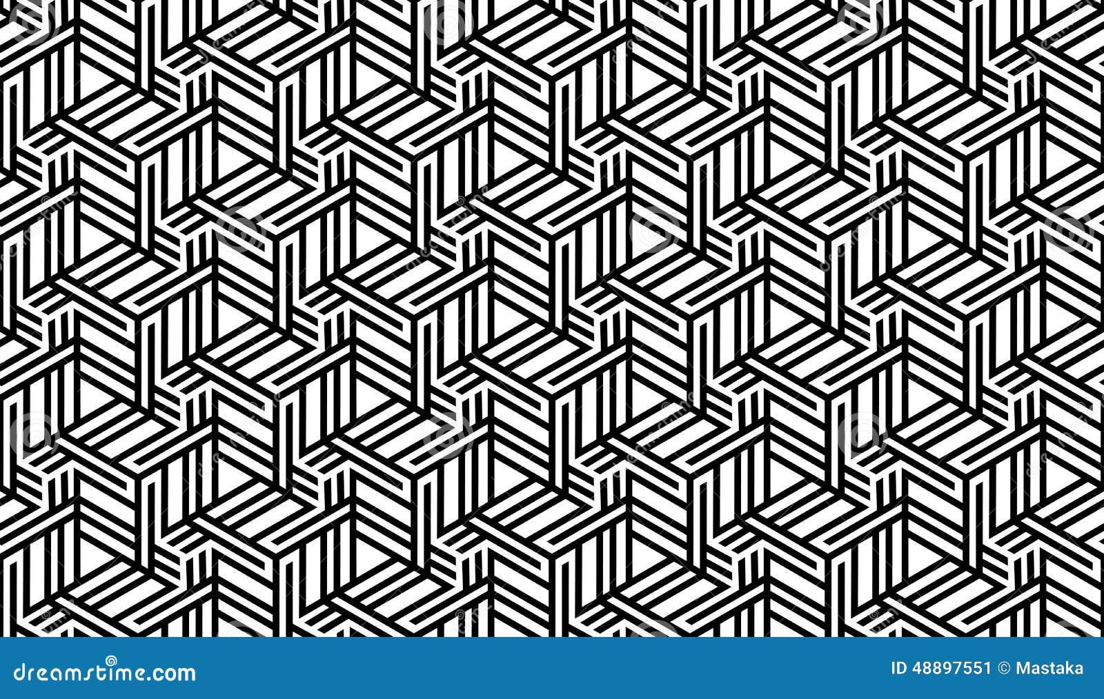 Modèle Géométrique Noir Et Blanc Illustration De Vecteur