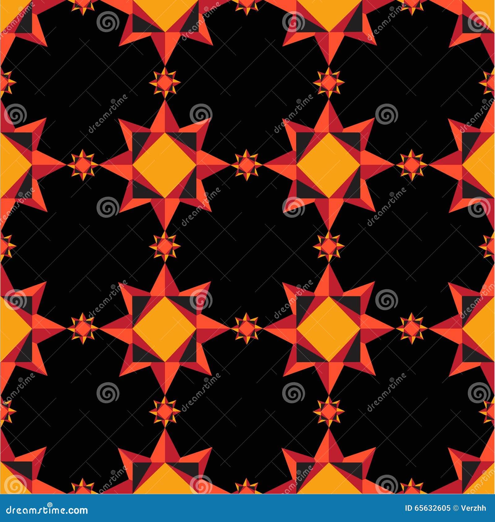 Modèle géométrique orange
