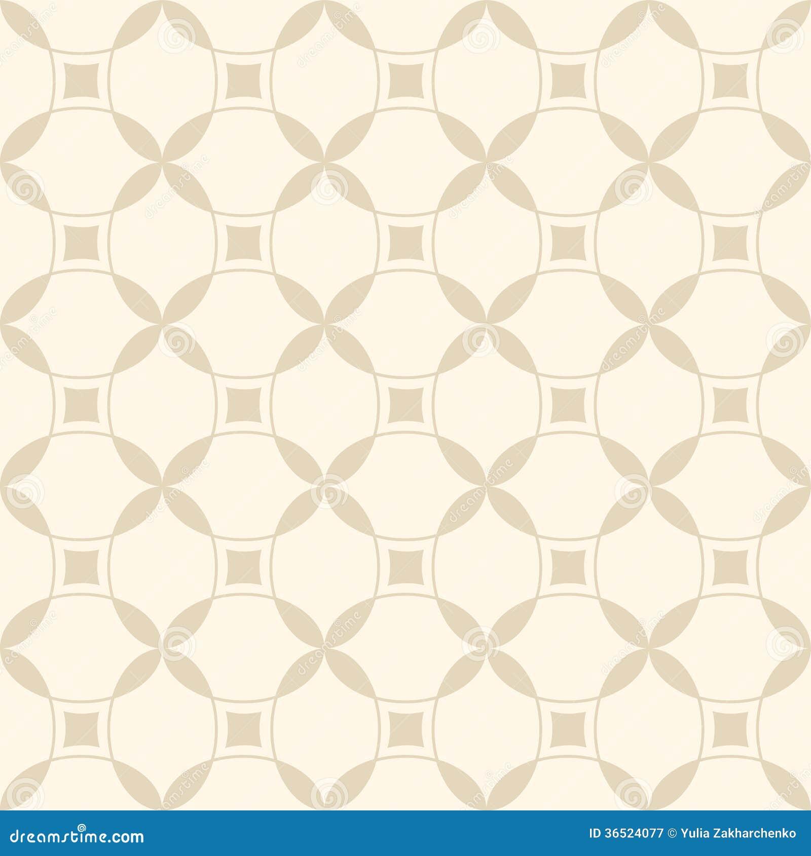 Modèle géométrique sans couture beige