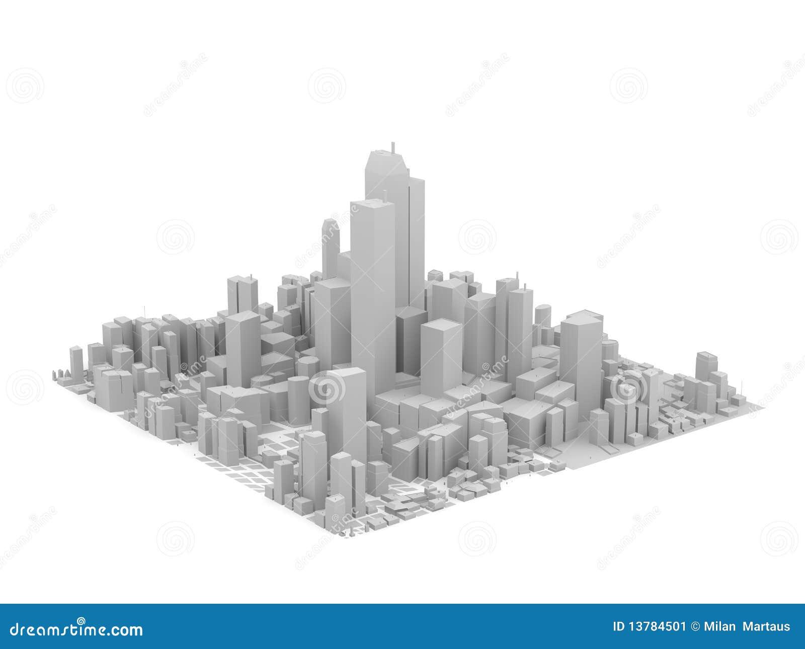 Modèle gris de ville