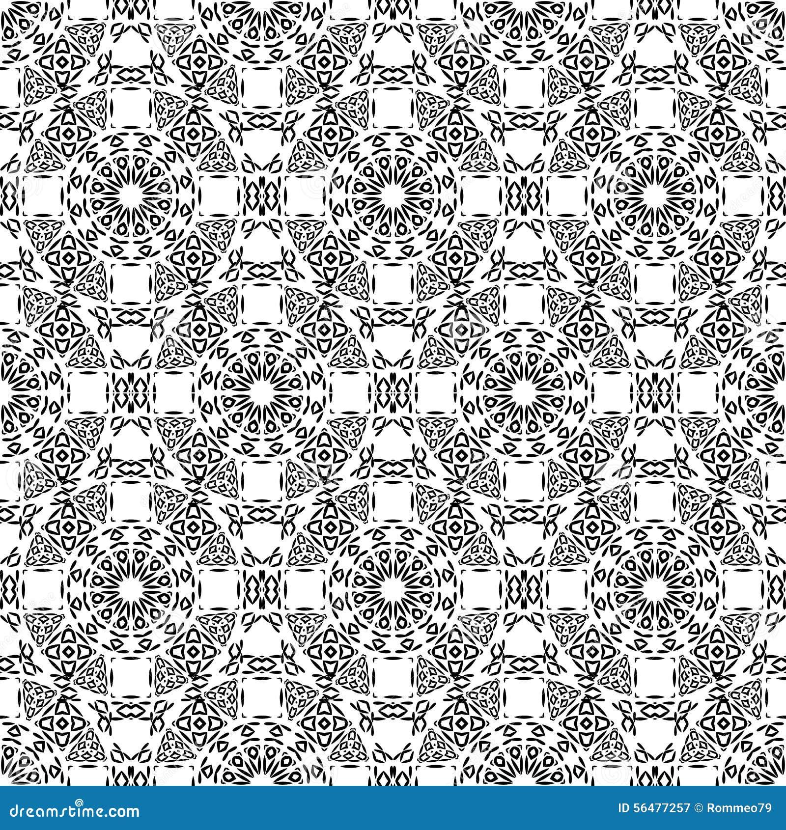 Modèle noir et blanc de triangle, fond, texture