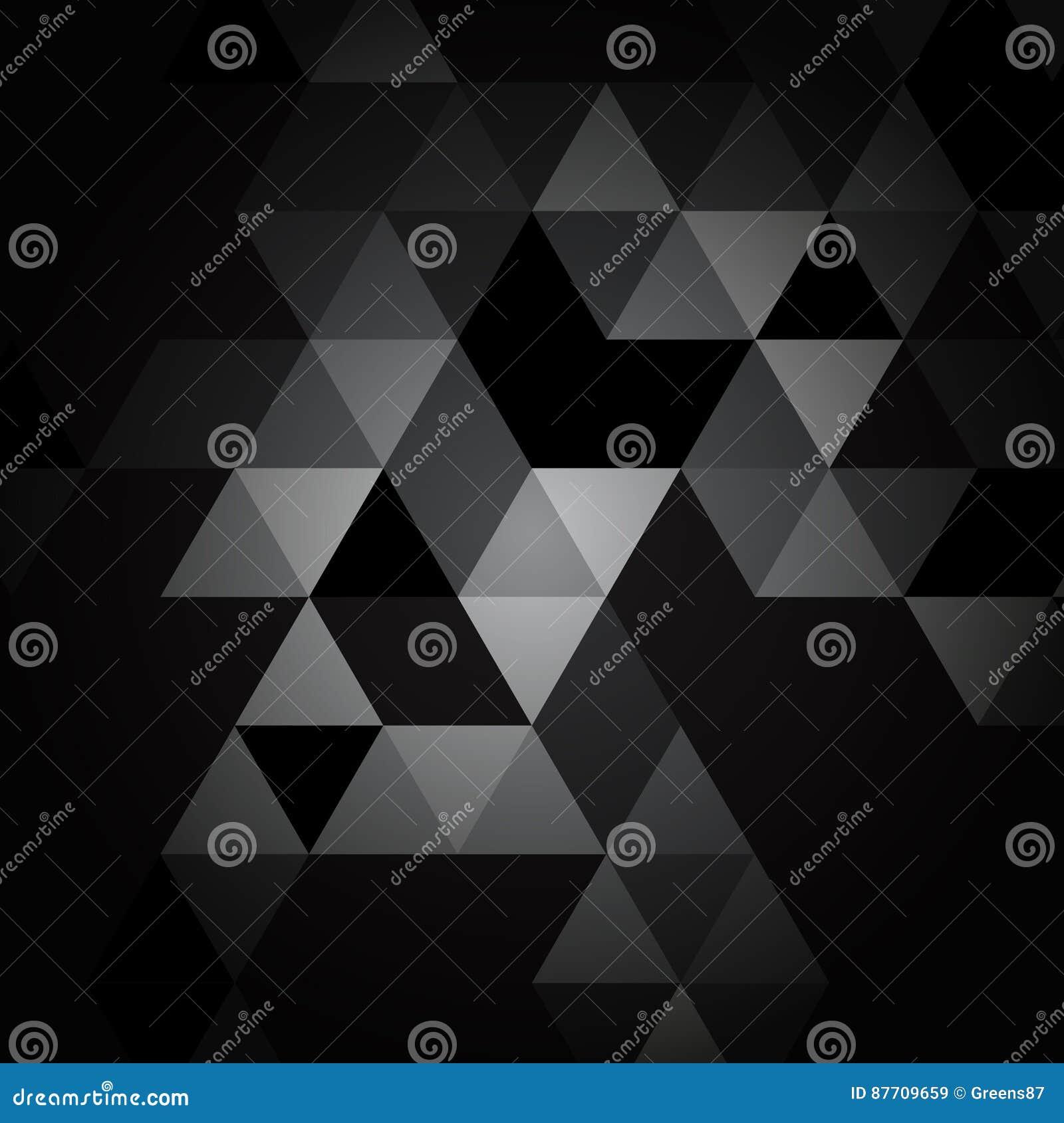 Modèle noir et gris de triangle