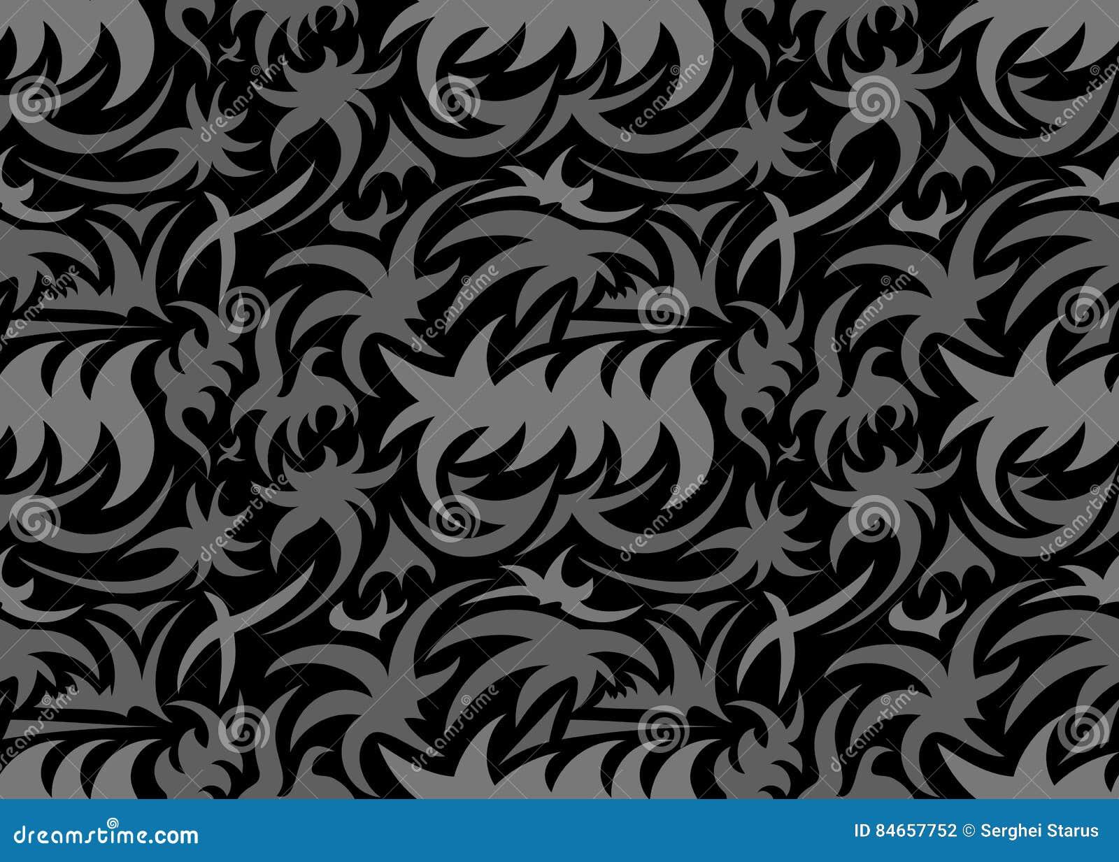 Modèle organique sans couture abstrait Illustration de vecteur