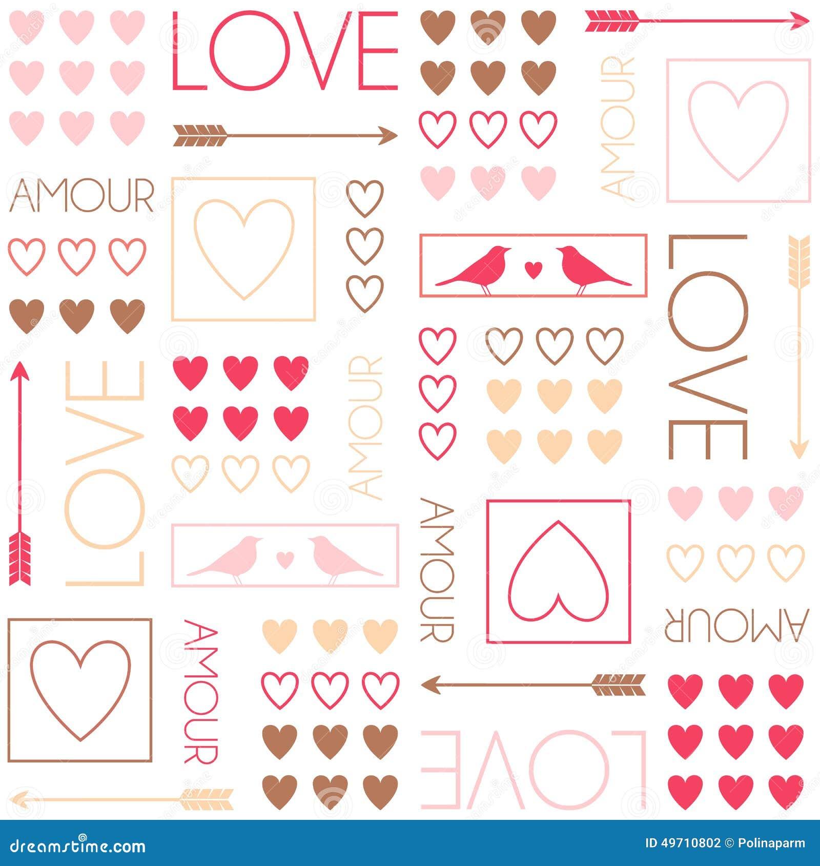 Mod le pour l 39 emballage cadeau oiseaux et coeurs mod le - Emballage cadeau saint valentin ...
