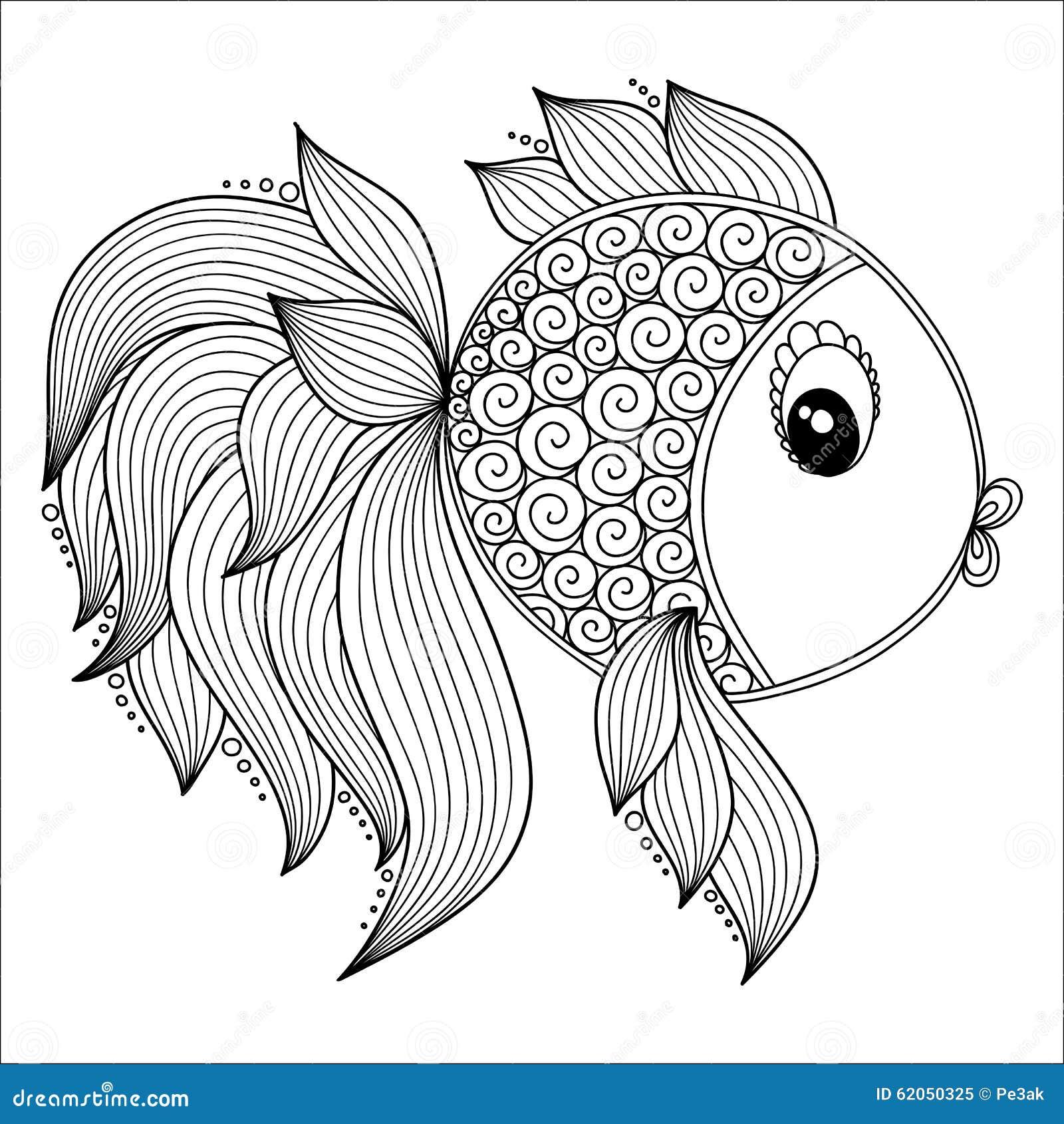 mod le pour livre de coloriage poissons mignons de dessin. Black Bedroom Furniture Sets. Home Design Ideas