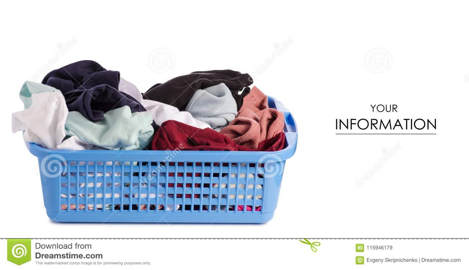 Modèle propre de lavage sale de panier de blanchisserie