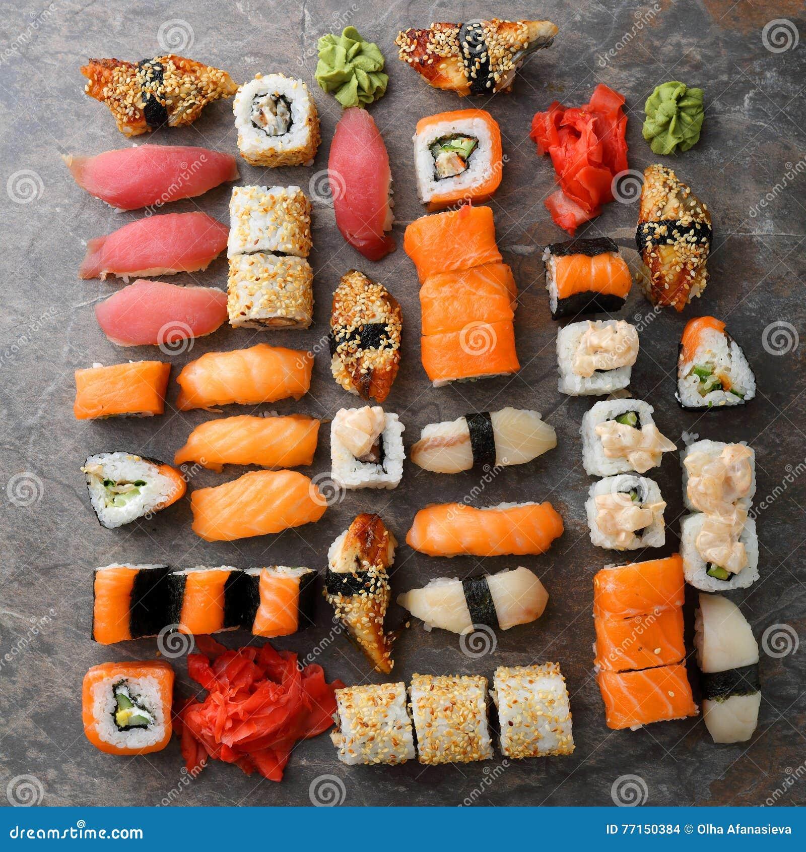 Modèle réglé de sushi et de nigirin