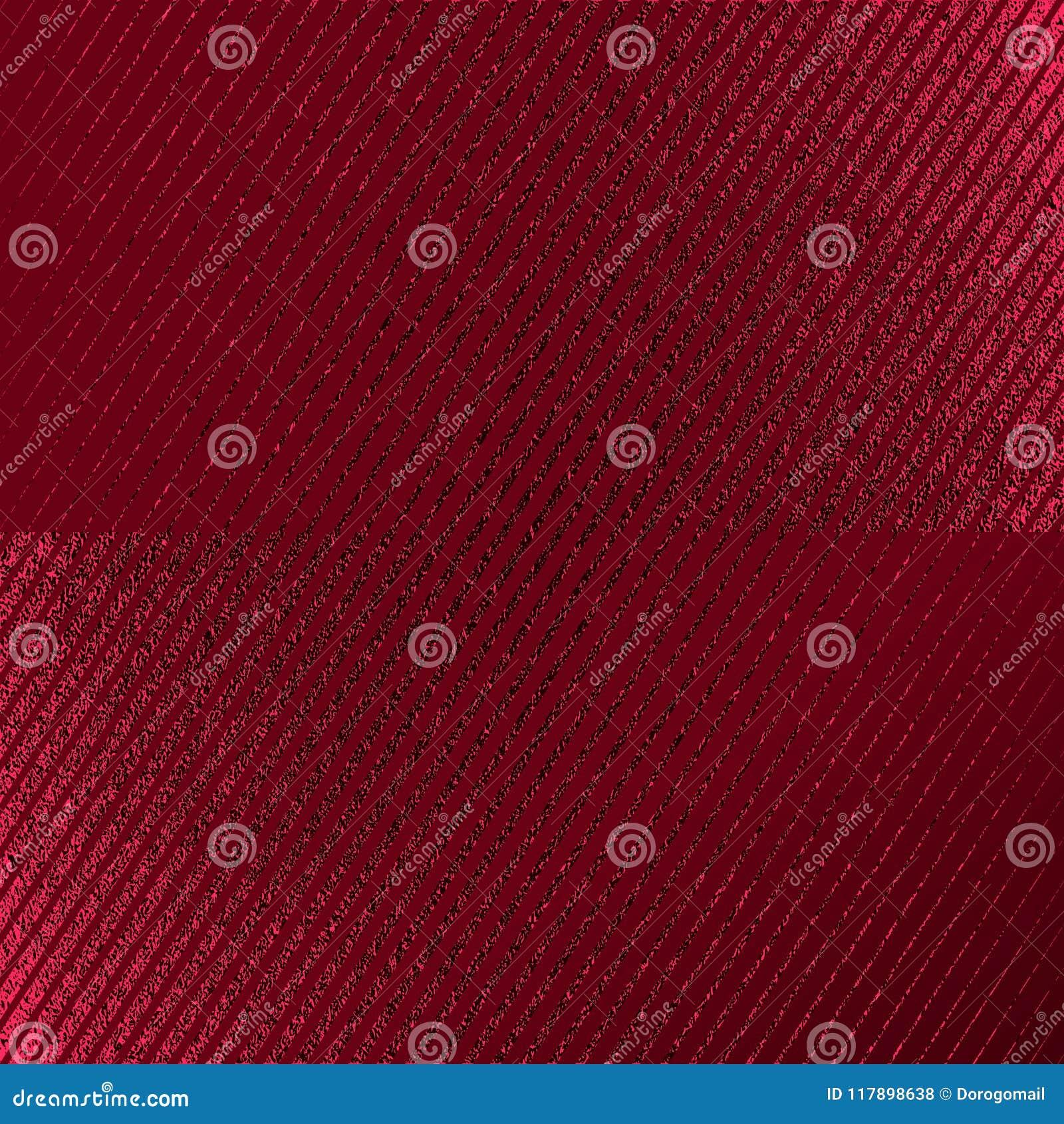 Modèle rouge Fond cramoisi abstrait Illustration marron de vecteur Rayures de scintillement d écarlate Texture rouge foncé d alum