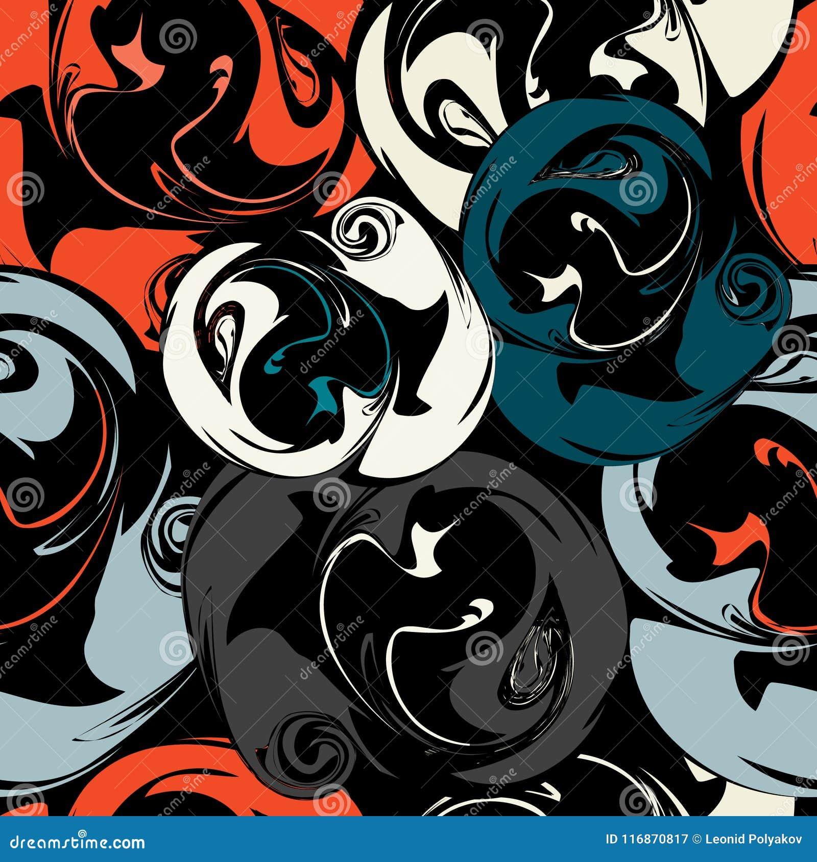 Modèle sans couture abstrait coloré dans l illustration de vecteur de qualité de style de graffiti pour votre conception