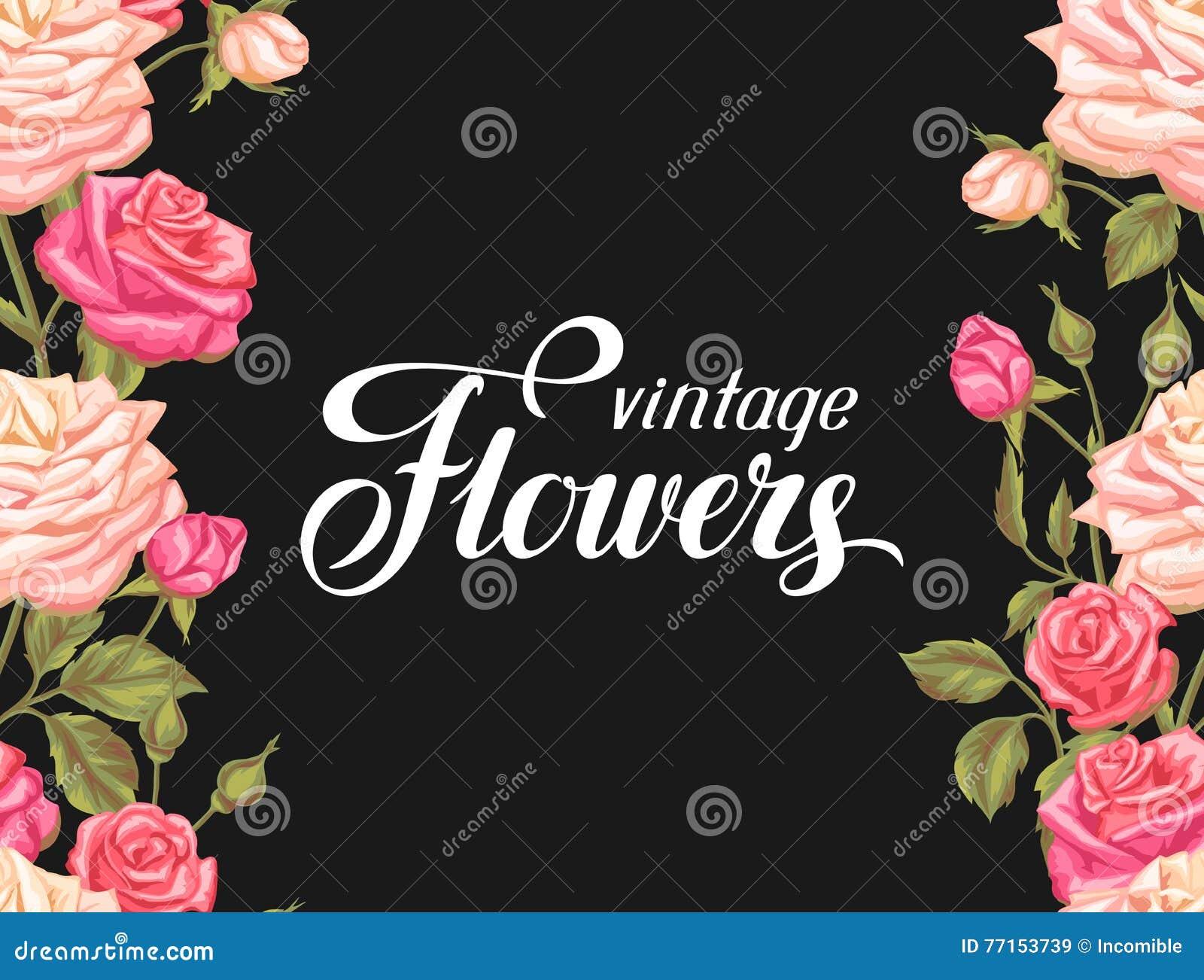 Modèle sans couture avec des roses de vintage Rétros fleurs décoratives Facile à utiliser pour le contexte, textile, papier d emb