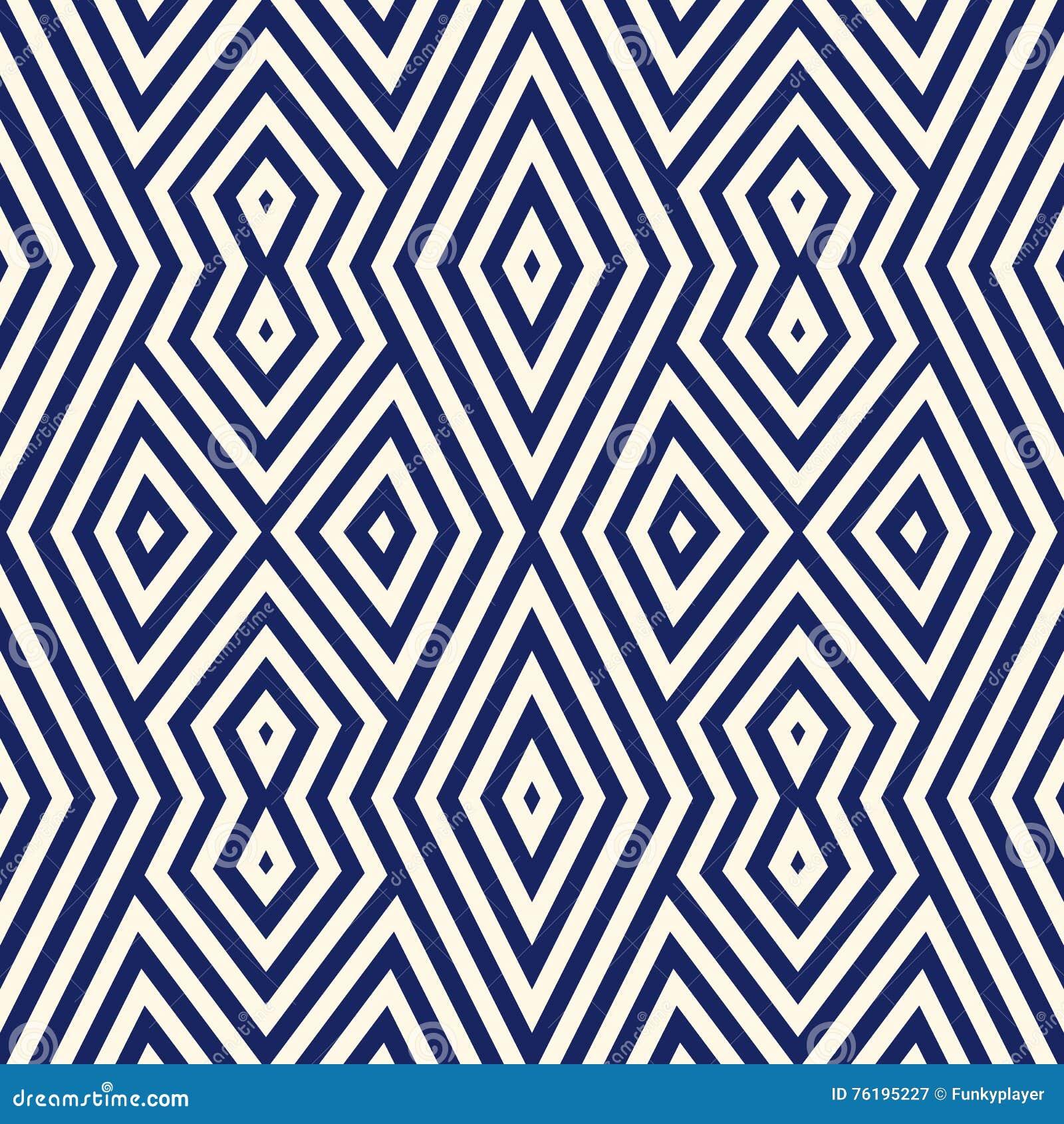 Modele Sans Couture Avec L Ornement Geometrique Symetrique Fond Raye