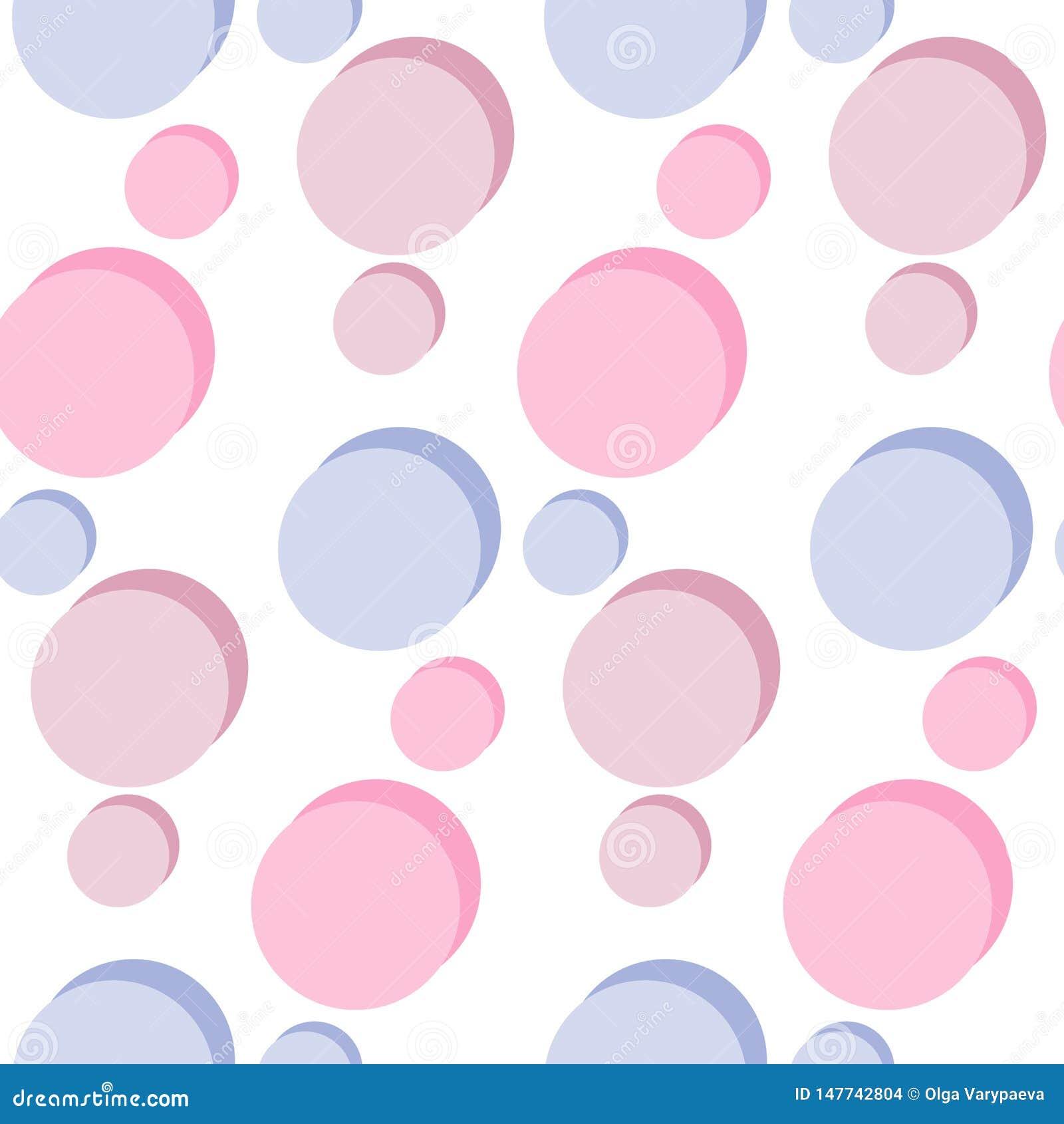 Modèle sans couture avec les cercles légers