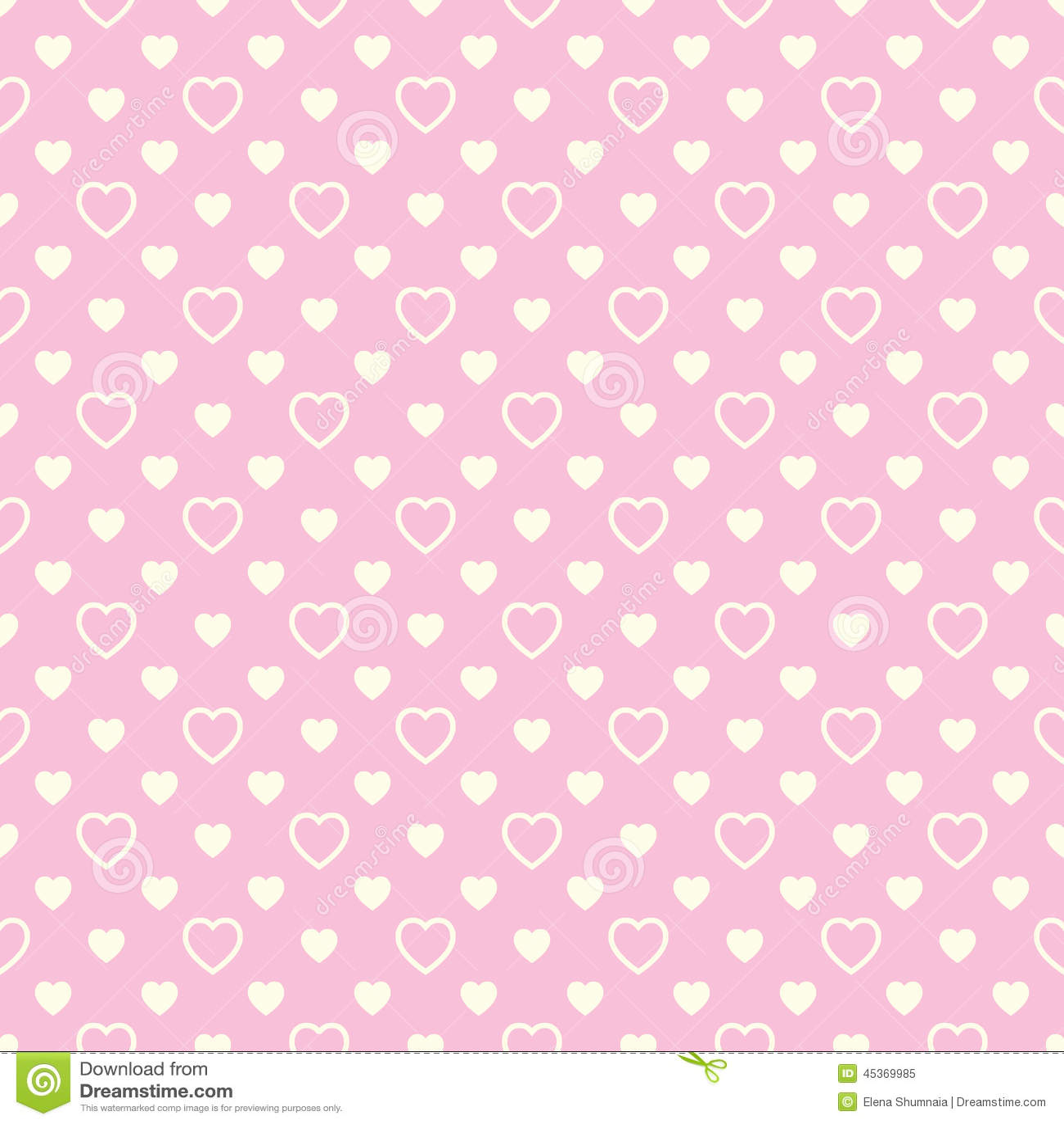 Modèle sans couture avec les coeurs beiges sur le fond rose