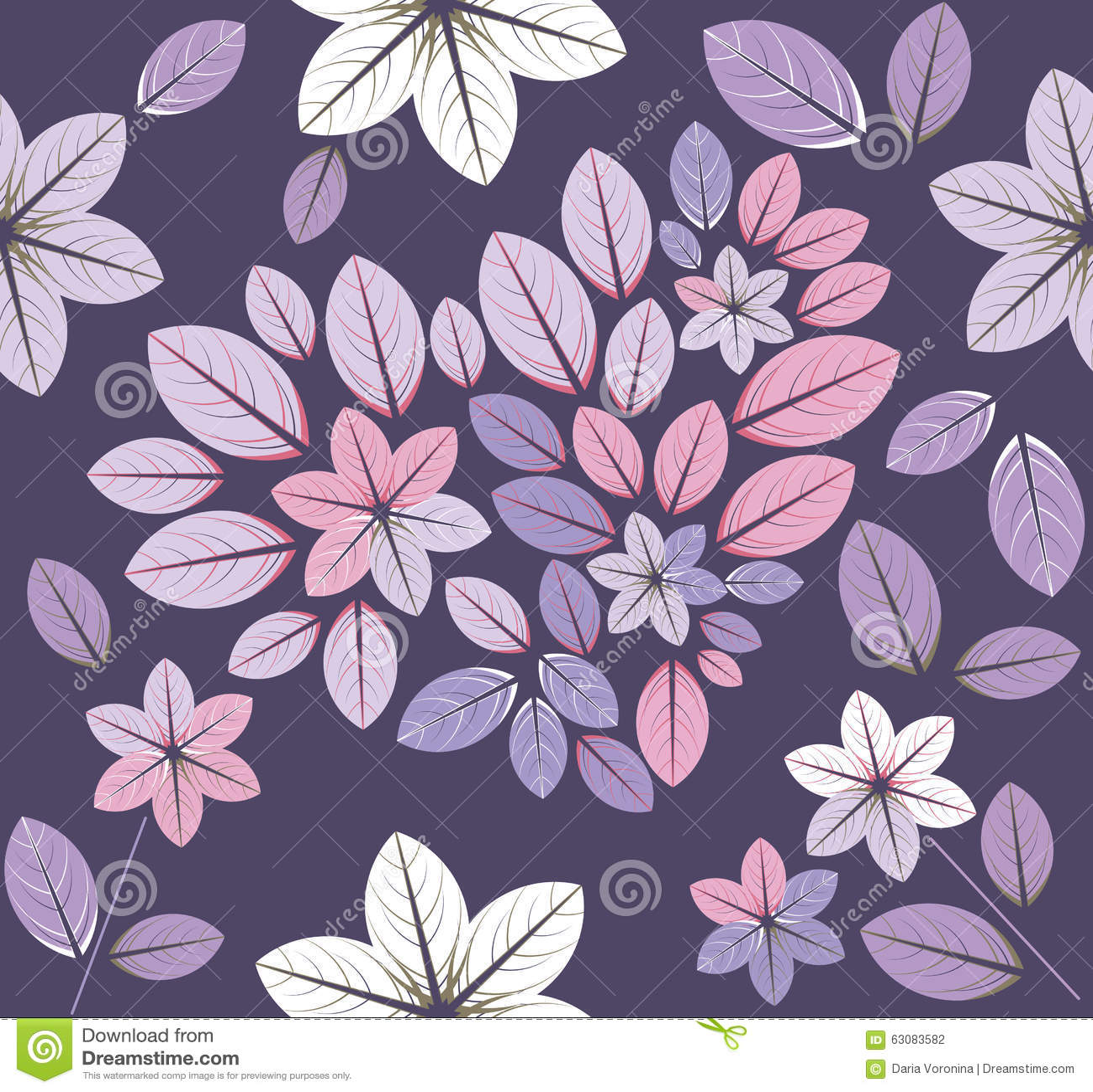 Download Modèle Sans Couture Avec Les Fleurs Et Le Coeur Illustration de Vecteur - Illustration du conception, canette: 63083582