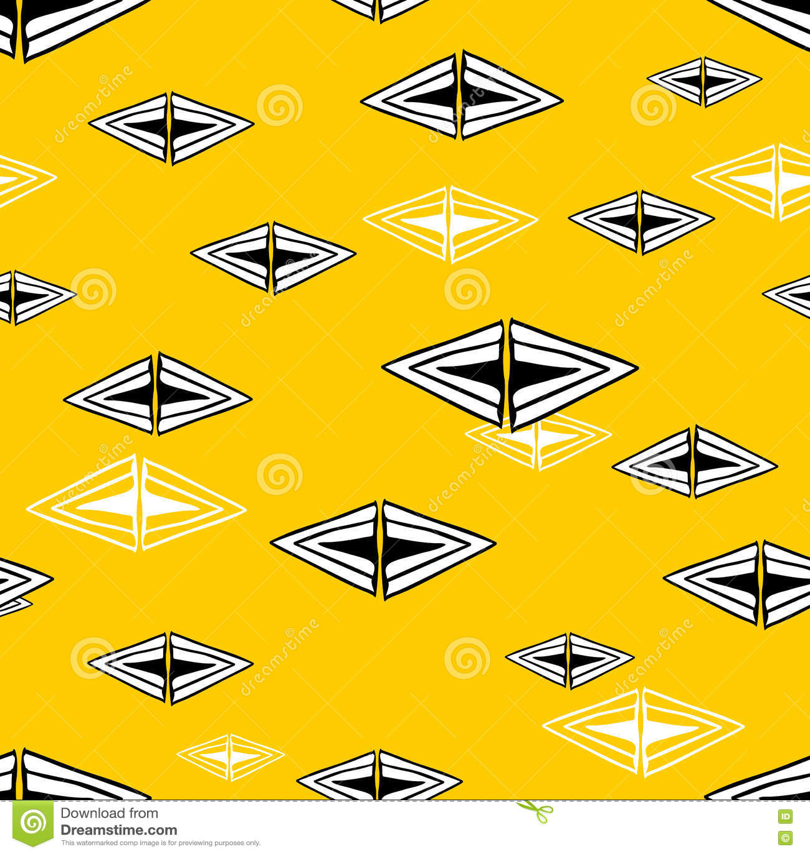 Modèle sans couture avec les triangles tirées par la main Illustration de griffonnage de vecteur