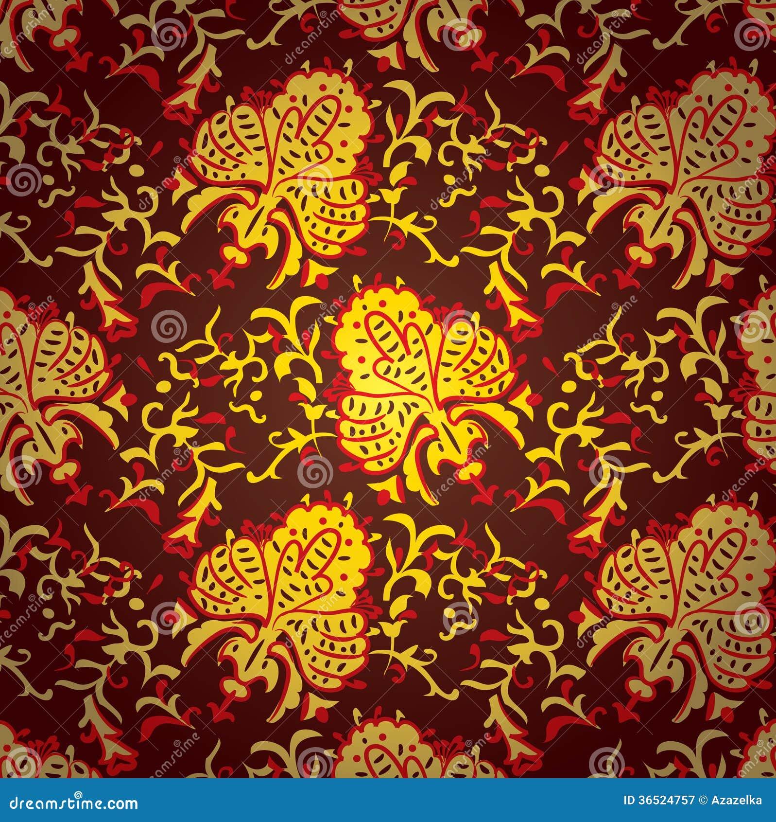 Modèle sans couture baroque de vintage.  Texture de vecteur