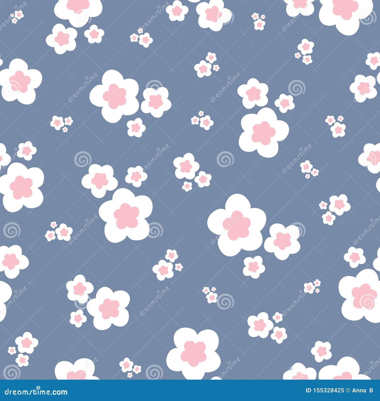 Modèle sans couture coloré de répétition des fleurs stylisées Un joli vecteur floral a jeté le fond en l air de conception