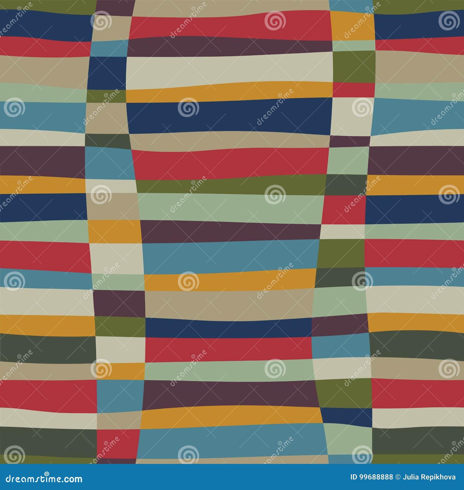 Modèle sans couture coloré de rétro problème abstrait à la mode avec le tissage