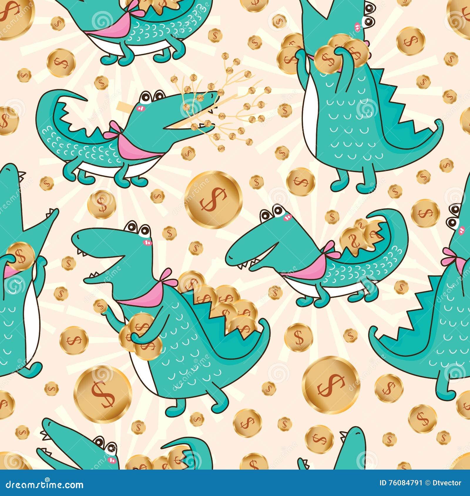 Modèle sans couture d argent de crocodile