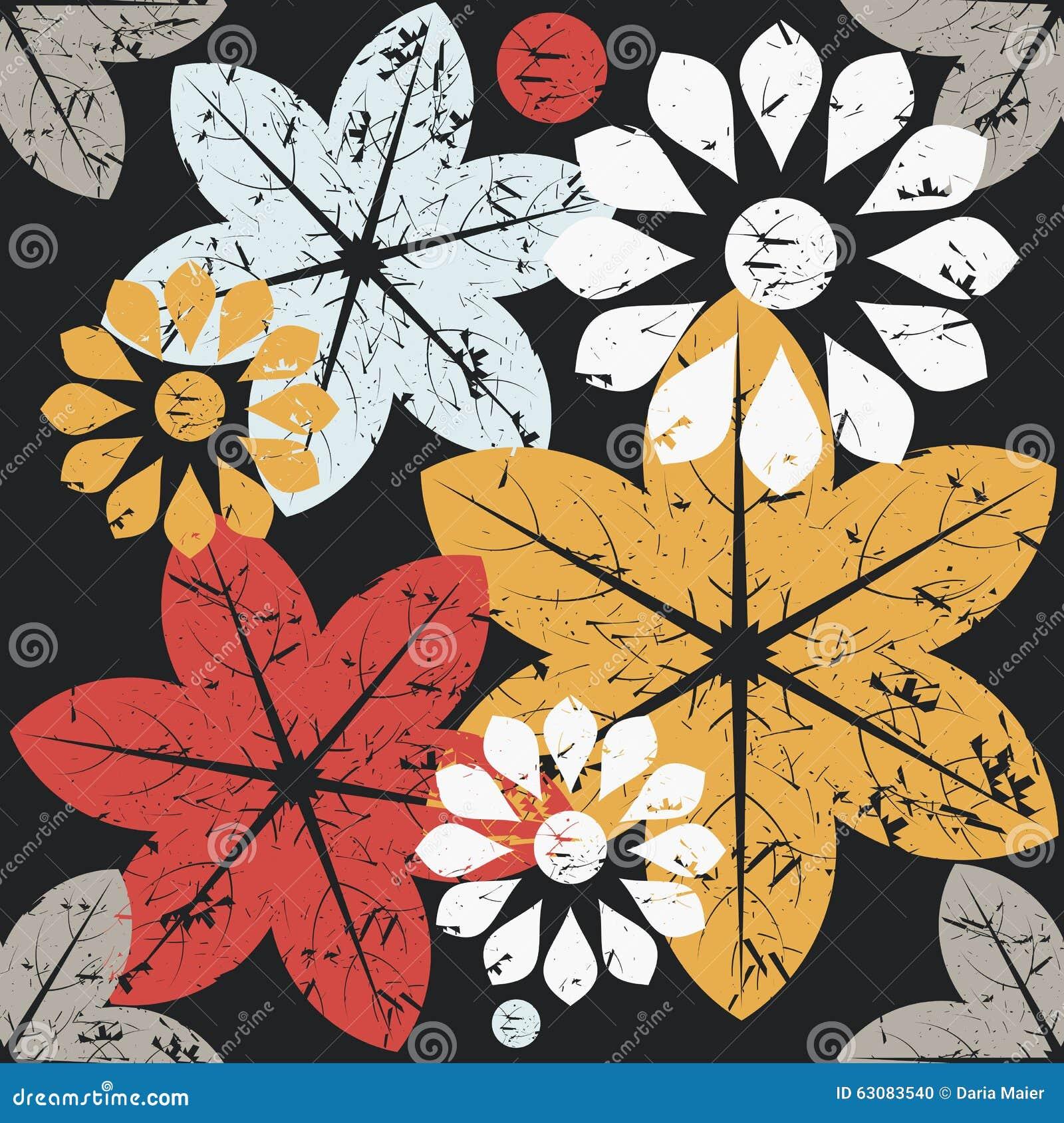 Download Modèle Sans Couture D'automne Avec Les Fleurs élégantes Illustration de Vecteur - Illustration du illustration, féminin: 63083540