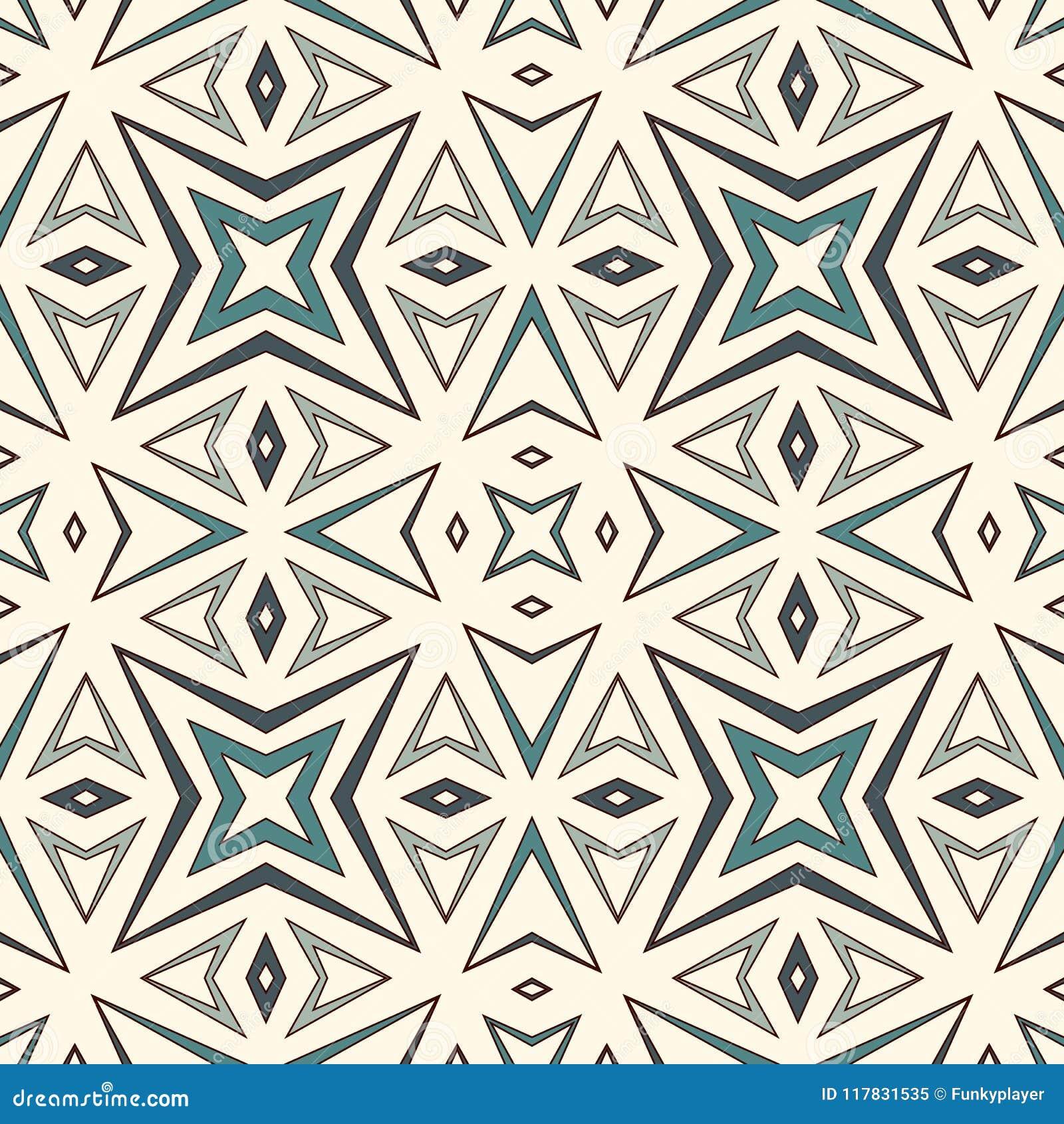 Modèle sans couture d ensemble avec les chiffres géométriques Fond abstrait répété d étoiles stylisées Motif ethnique et tribal