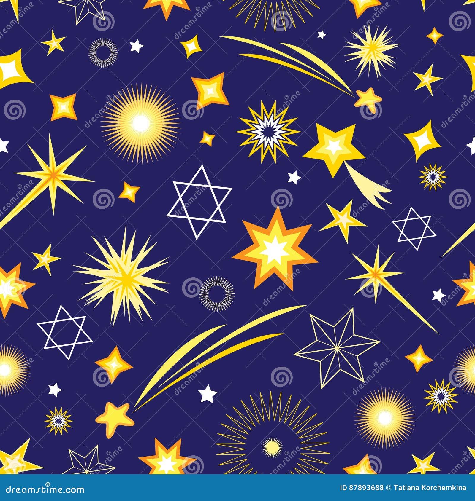 Modèle sans couture de différentes étoiles