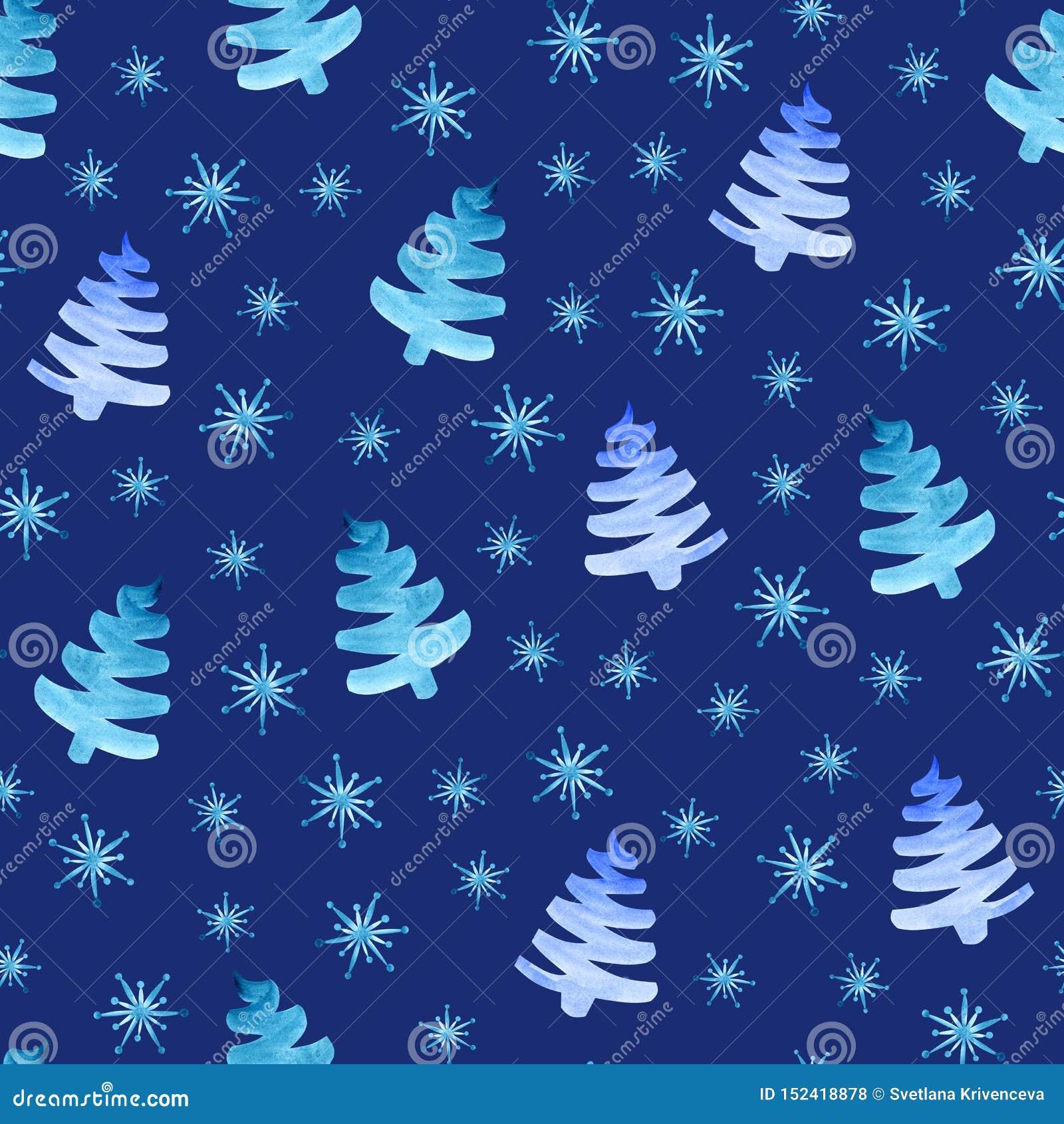 Modèle sans couture de flocons de neige d arbres de Noël
