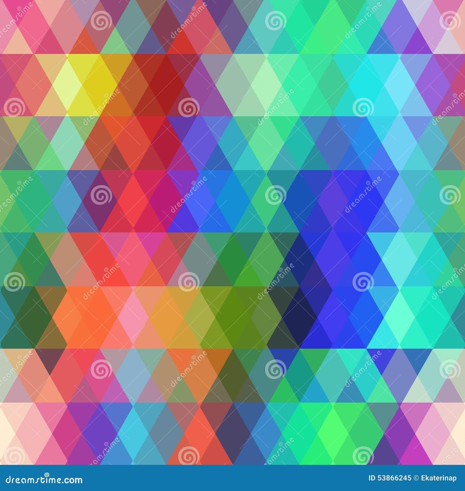 Modèle sans couture de hippies abstraits avec le losange coloré Fond géométrique Vecteur