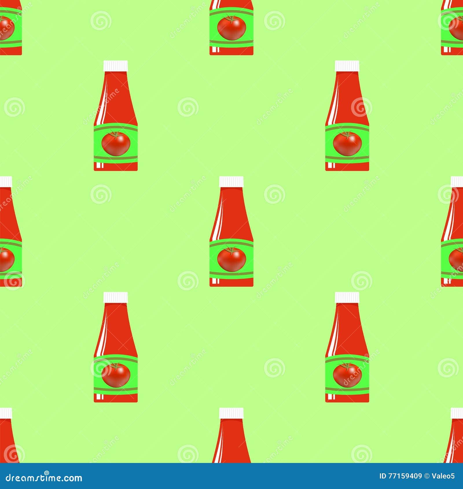 Modèle sans couture de ketchup de tomate