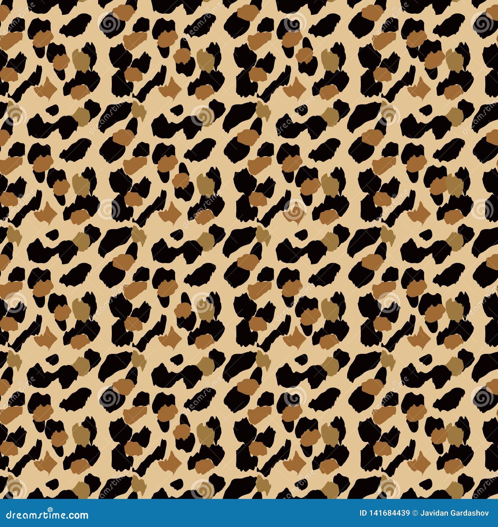 Modele Sans Couture De Leopard A La Mode Fond Repere Stylise De Peau De Leopard Pour La Mode Copie Papier Peint Tissu Illustration De Vecteur Illustration Du Mode Tissu 141684439