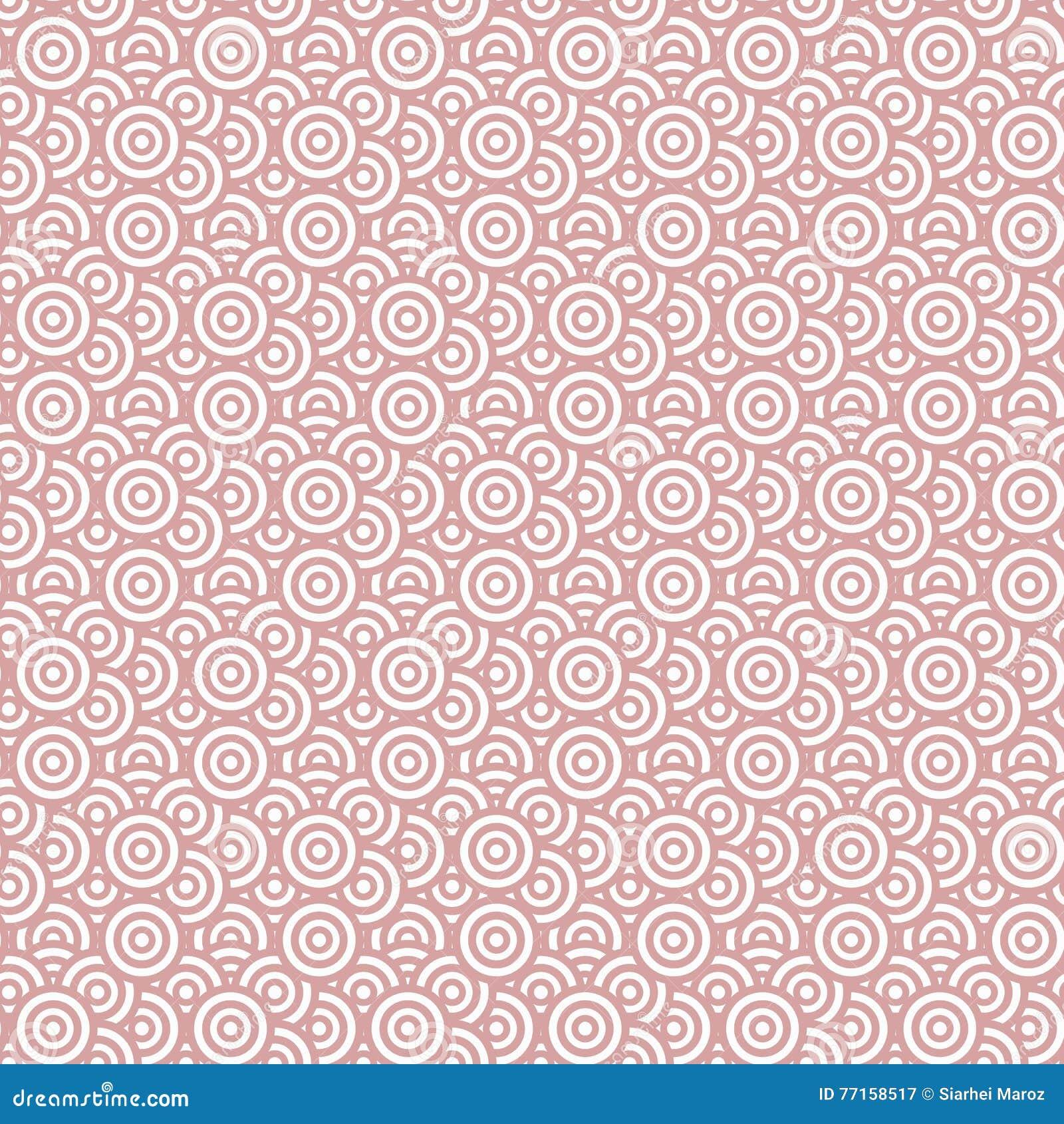 Modèle sans couture de la géométrie avec les cercles concentriques