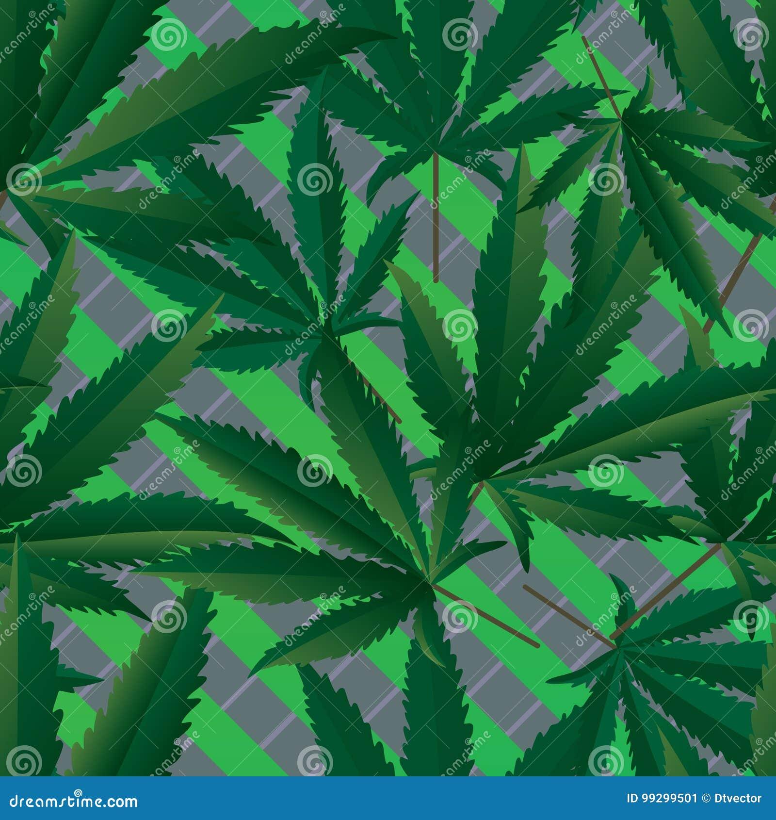 Modèle sans couture de marijuana