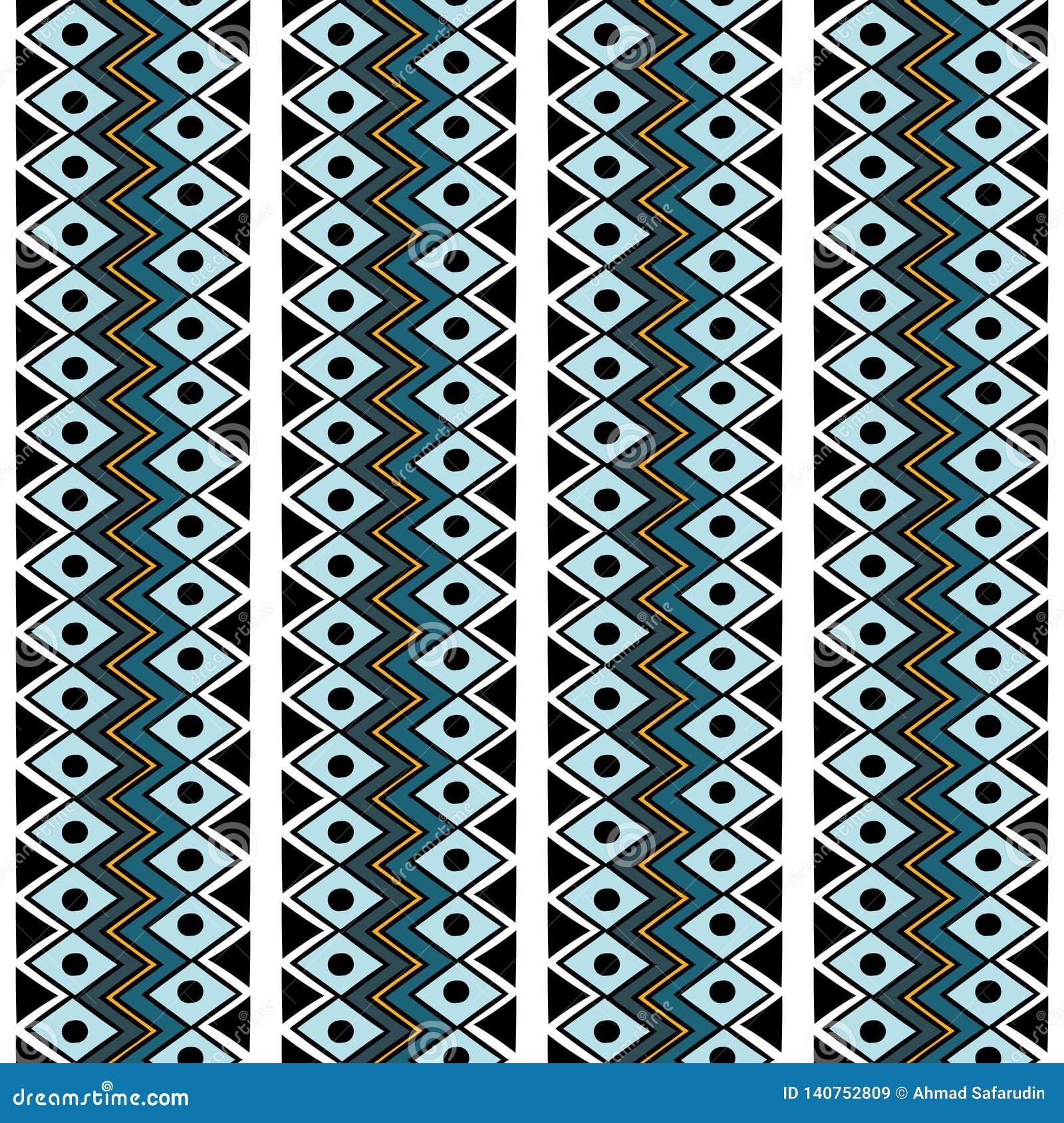 Modèle sans couture de Navajo de rétro vecteur tribal de couleurs Copie géométrique abstraite aztèque d art fond ethnique de vect