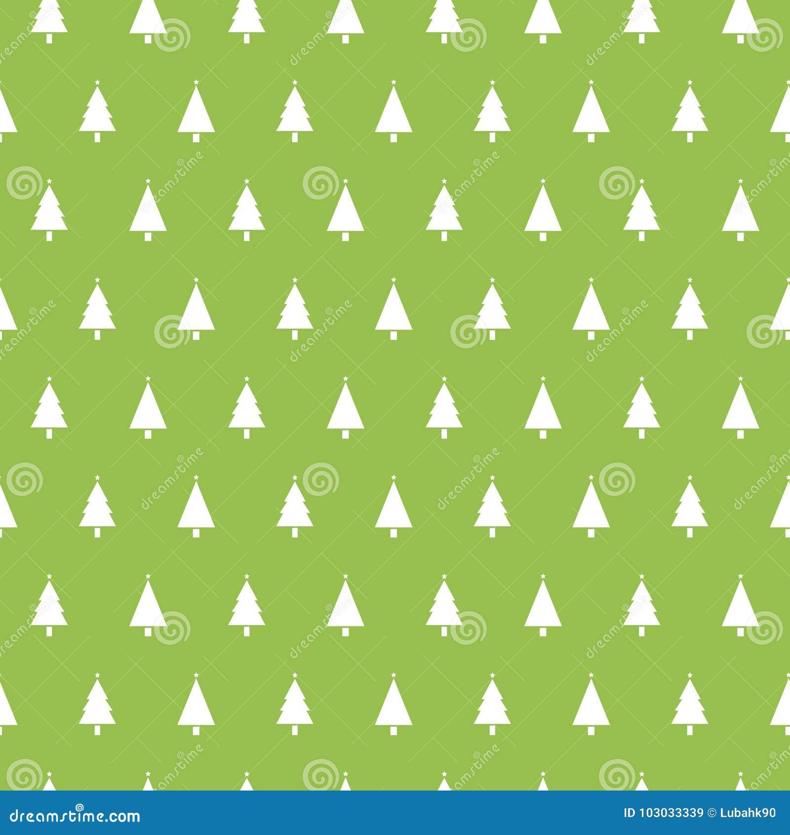 Modele Sans Couture De Noel Avec Des Arbres De Noel Sur Le Fond Vert