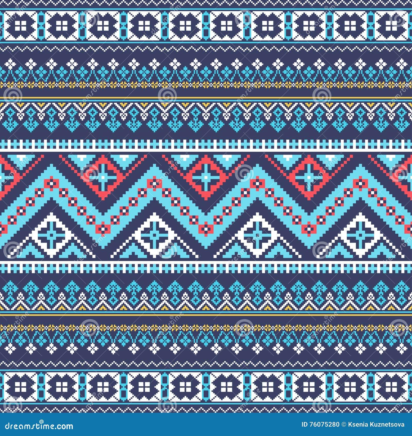 Modèle sans couture de pixel aztèque Idéal pour imprimer sur le tissu, papier, web design