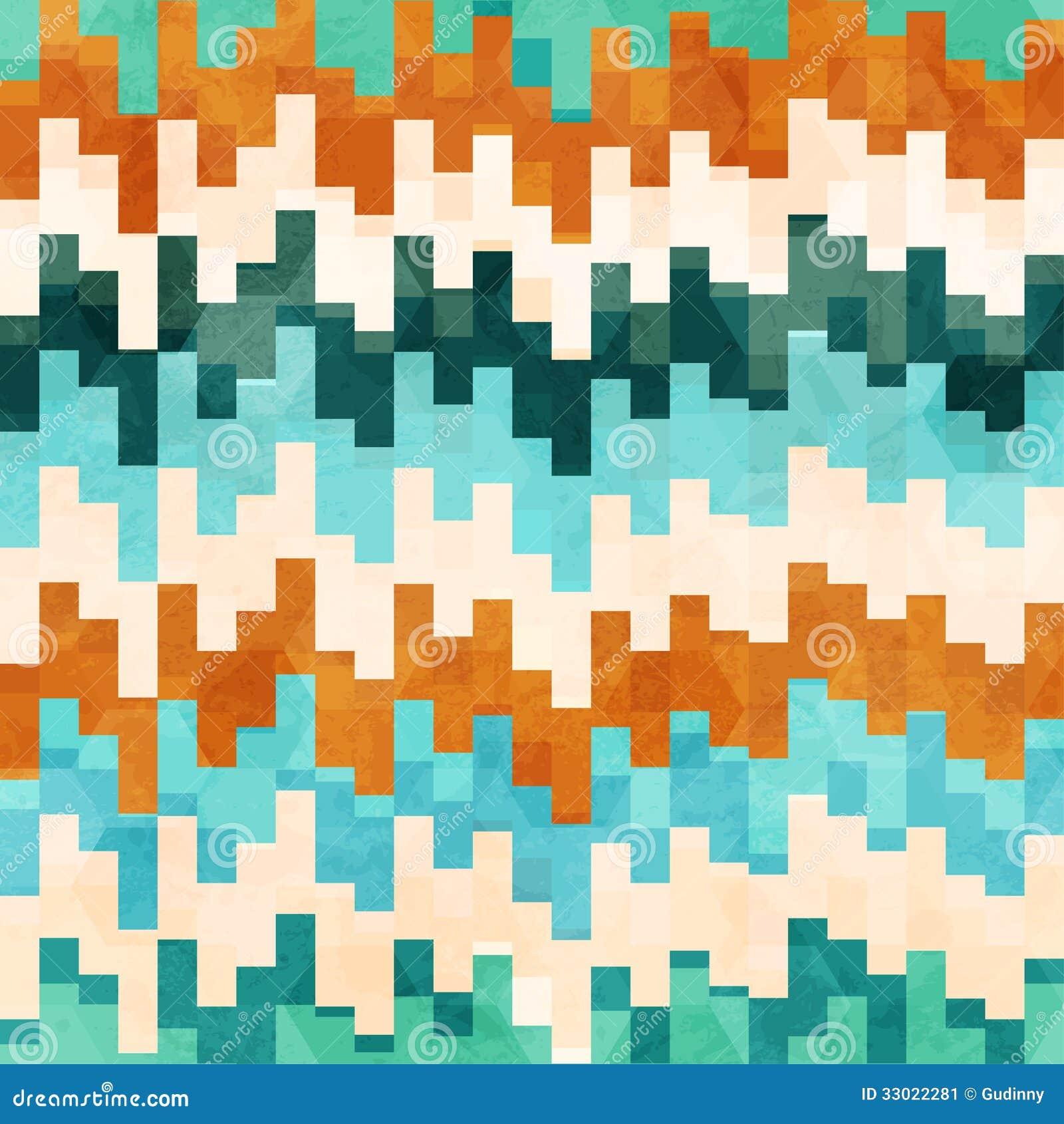 Modèle sans couture de pixel de vintage avec l effet grunge