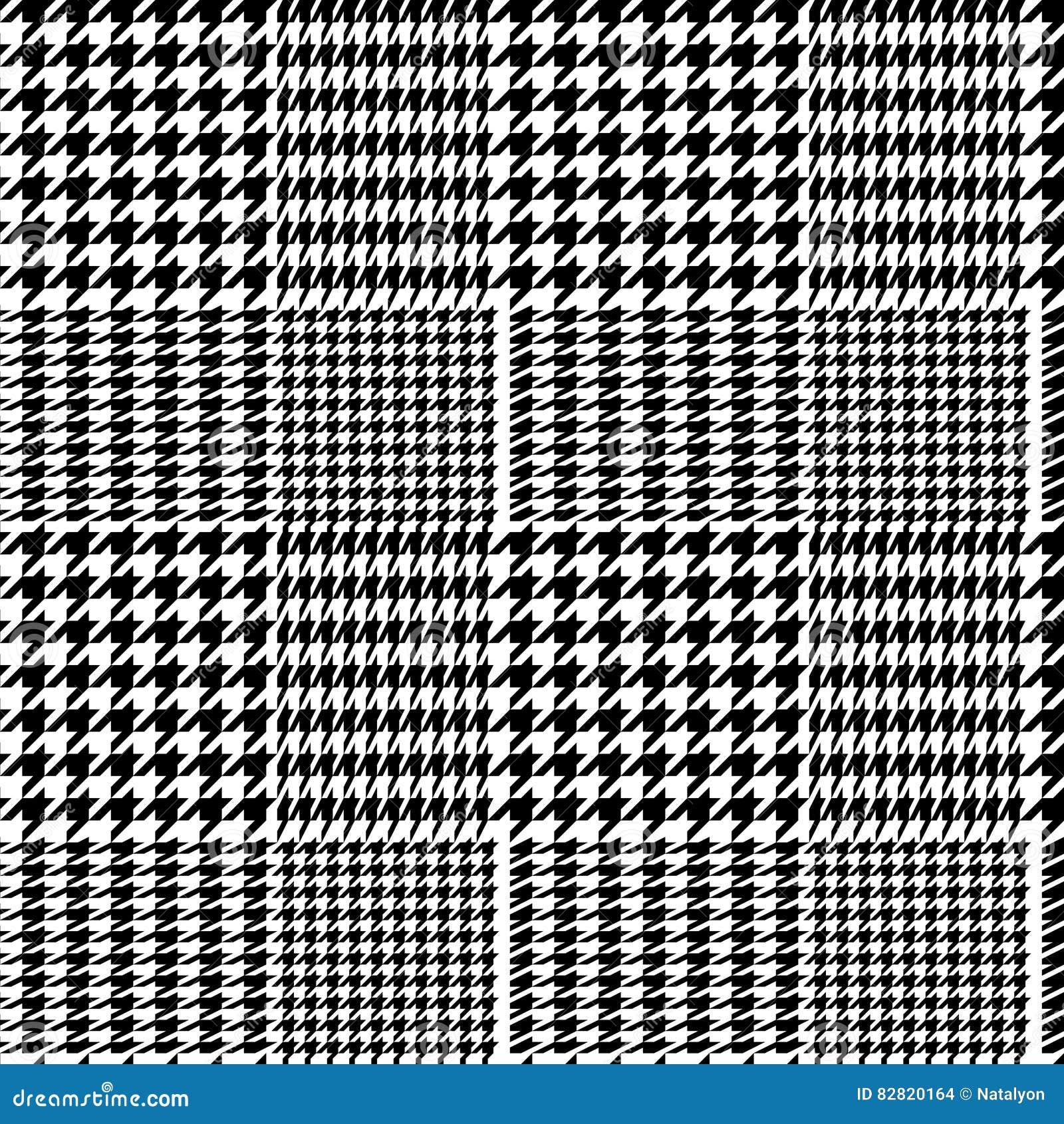 mod le sans couture de plaid g om trique de pied de poule en noir et blanc vecteur illustration. Black Bedroom Furniture Sets. Home Design Ideas