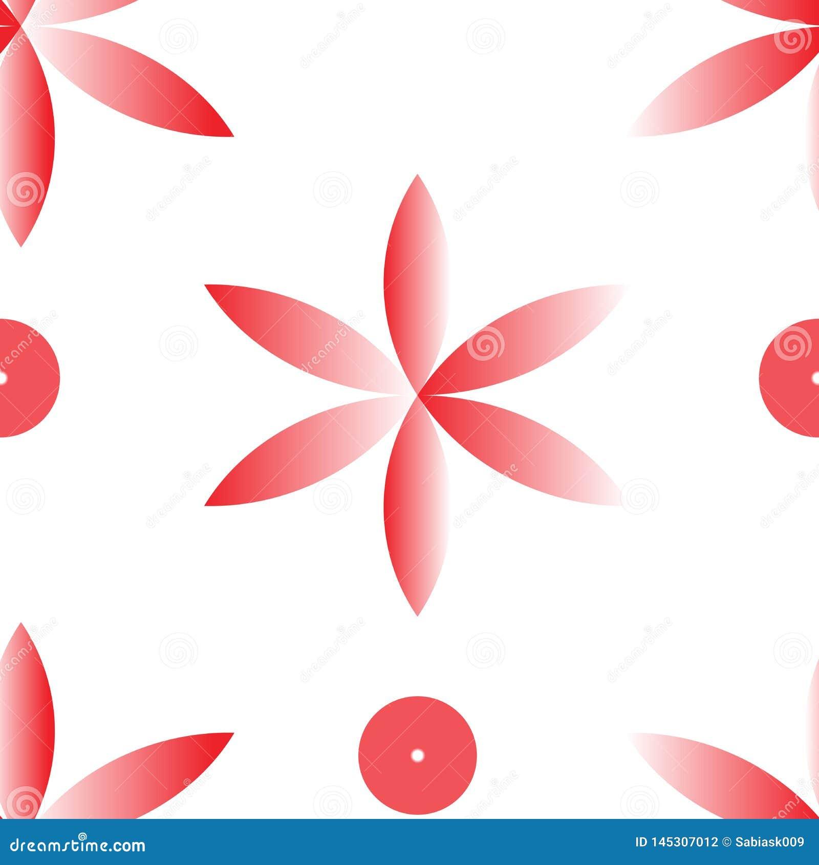 Modèle sans couture de répétition de fllower rouge de vecteur