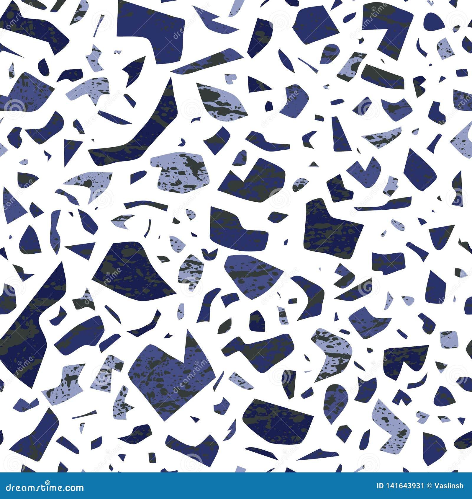 Modèle sans couture de sol de mosaïque de vecteur, fond mural avec les taches chaotiques