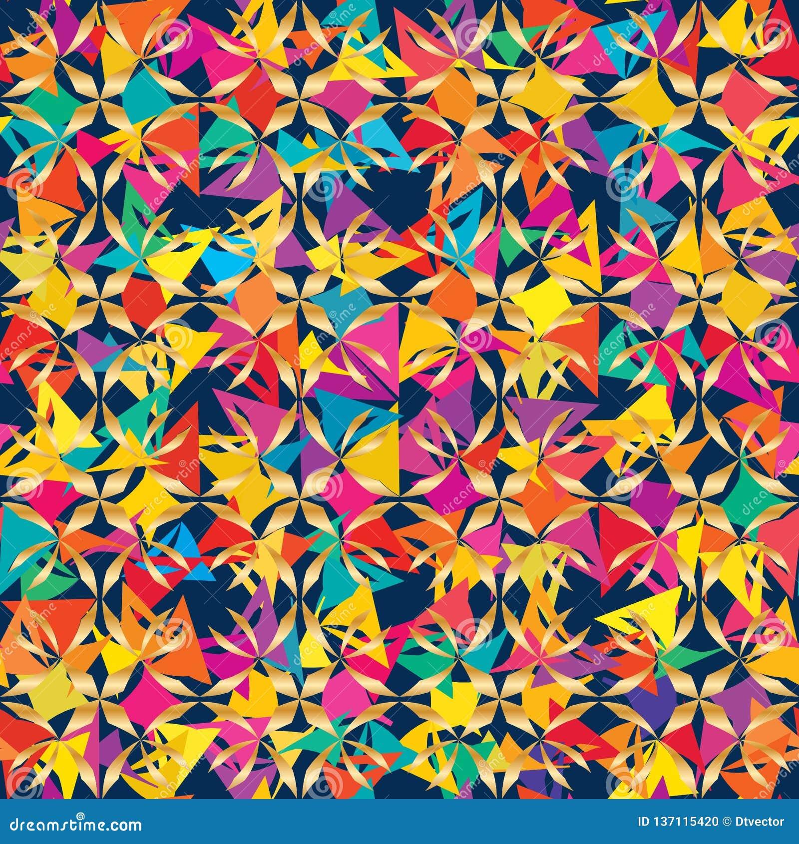 Modèle sans couture de symétrie tribale carrée de couleur de coupe d étoile