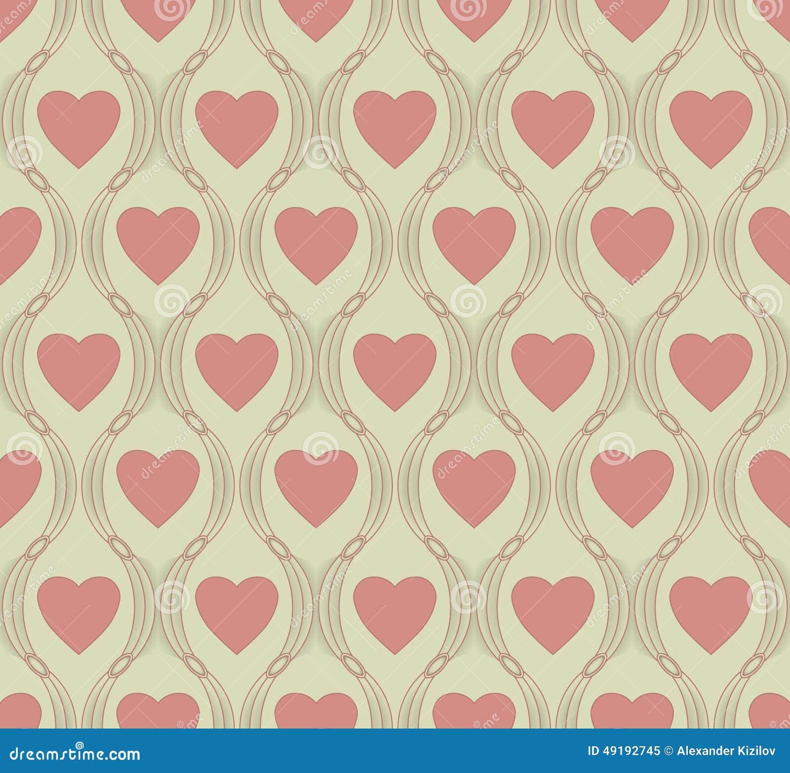 Modèle sans couture de symbole de coeur