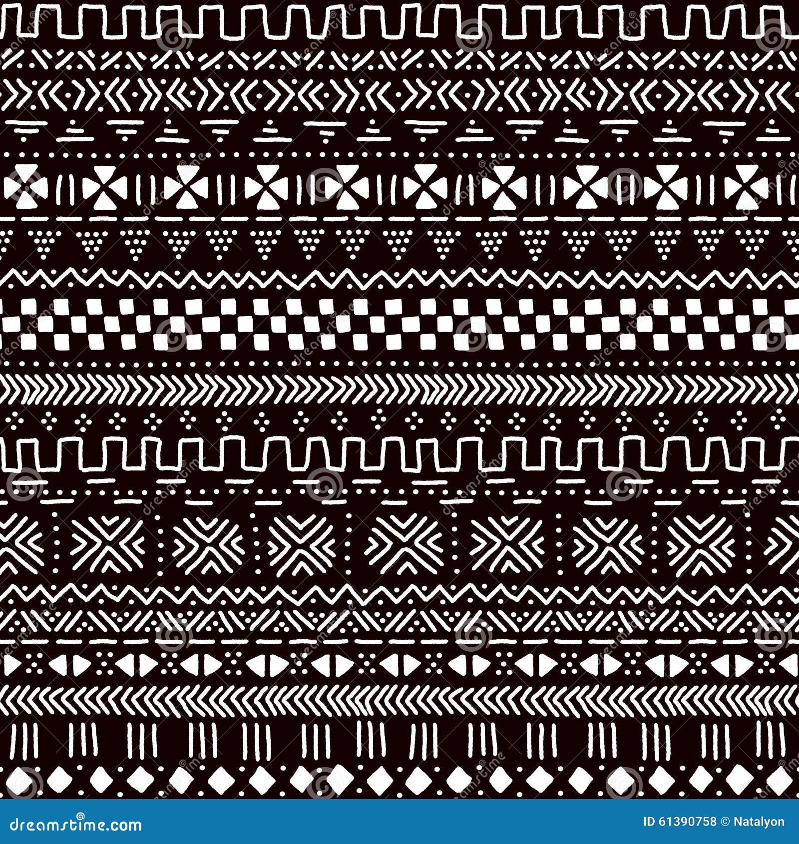 tissu africain noir et blanc