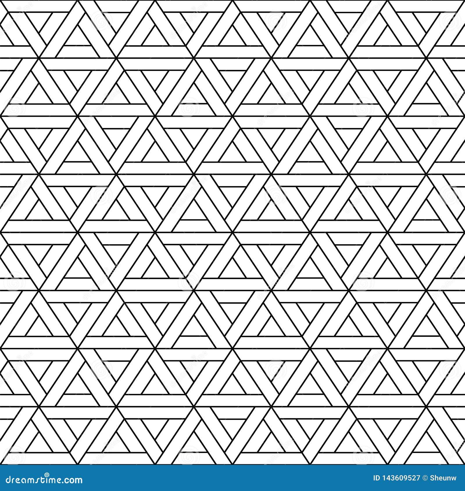 Modèle sans couture de triangle de vecteur - dessin géométrique Fond dernier cri abstrait Texture créative de grille