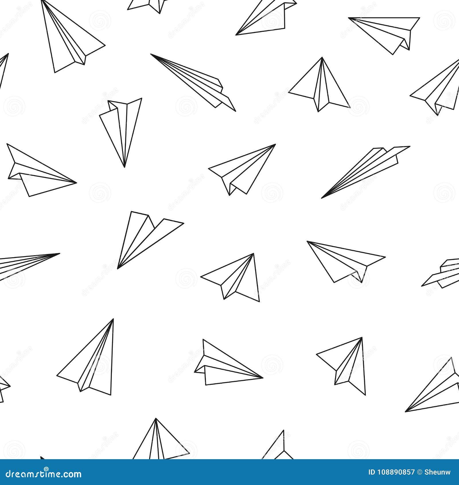 Modèle sans couture de vecteur avec des avions d origami Fond créateur abstrait